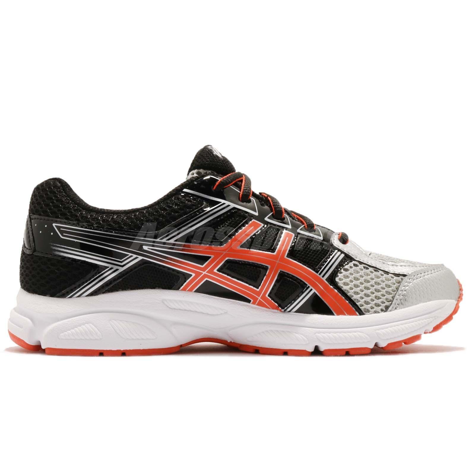 asics junior running shoes size 4 black
