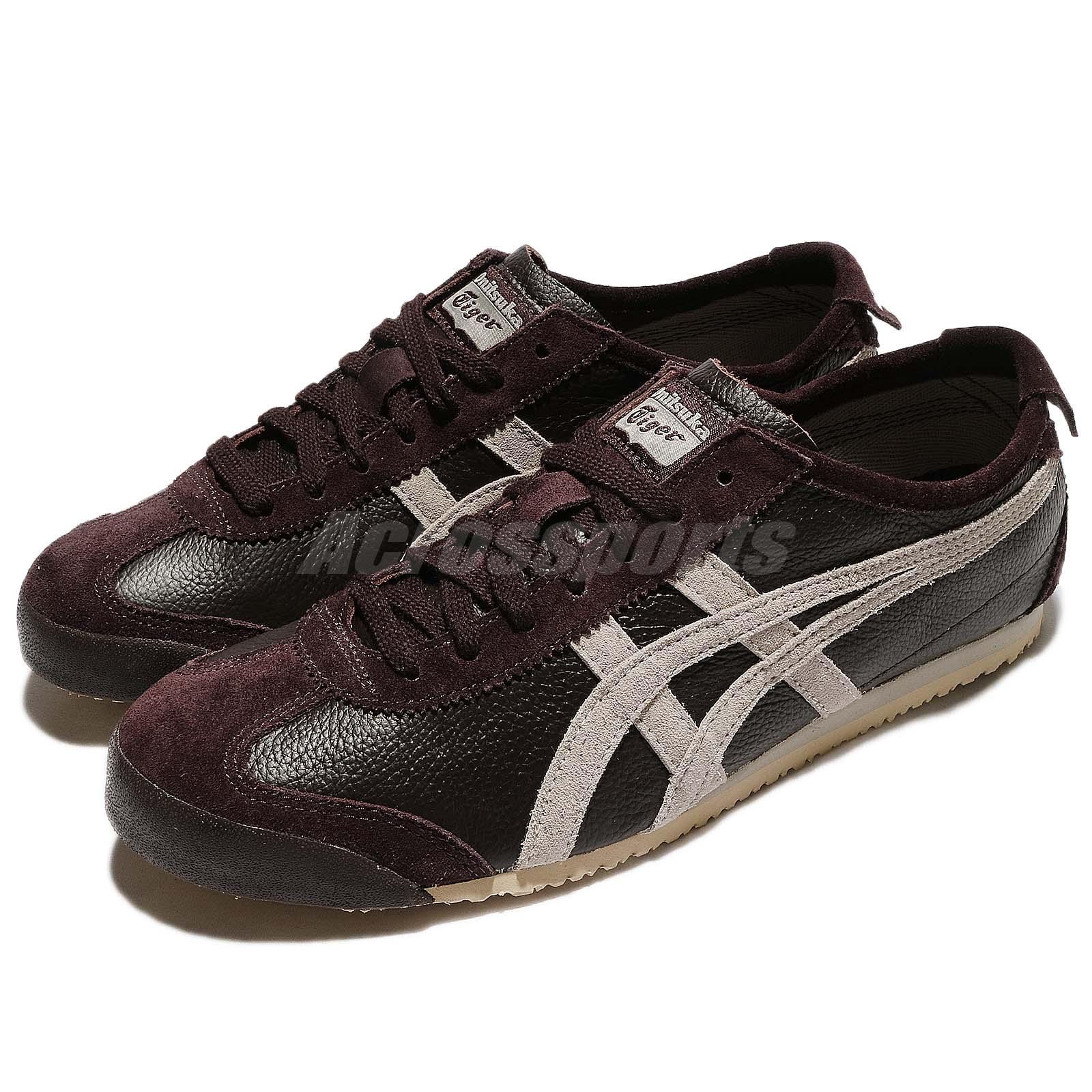 wholesale dealer 57906 cd664 Details about Asics Onitsuka Tiger Mexico 66 Vin Brown Grey Men Vintage  Shoes D2J4L-2912