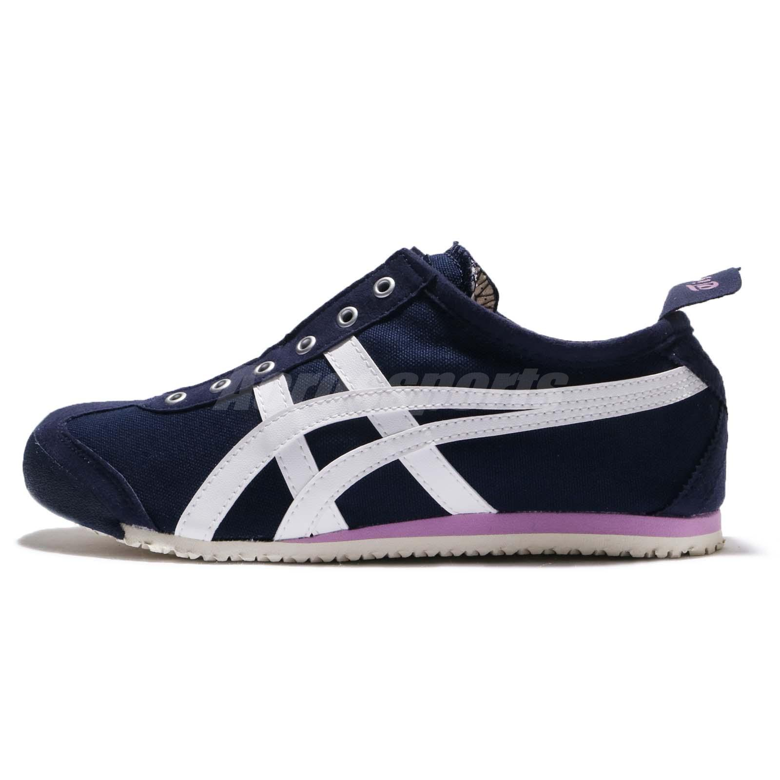 best website c5d92 ced1d Details about Asics Onitsuka Tiger Mexico 66 Slip-On Peacoat White Women  Shoes D3K5N-5801