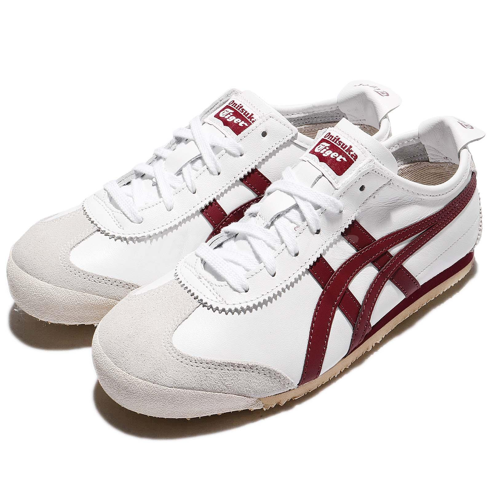 sale retailer 84659 afcb7 Details about Asics Onitsuka Tiger Mexico 66 White Burgundy Men Sports Shoe  Sneaker D4J2L-0125