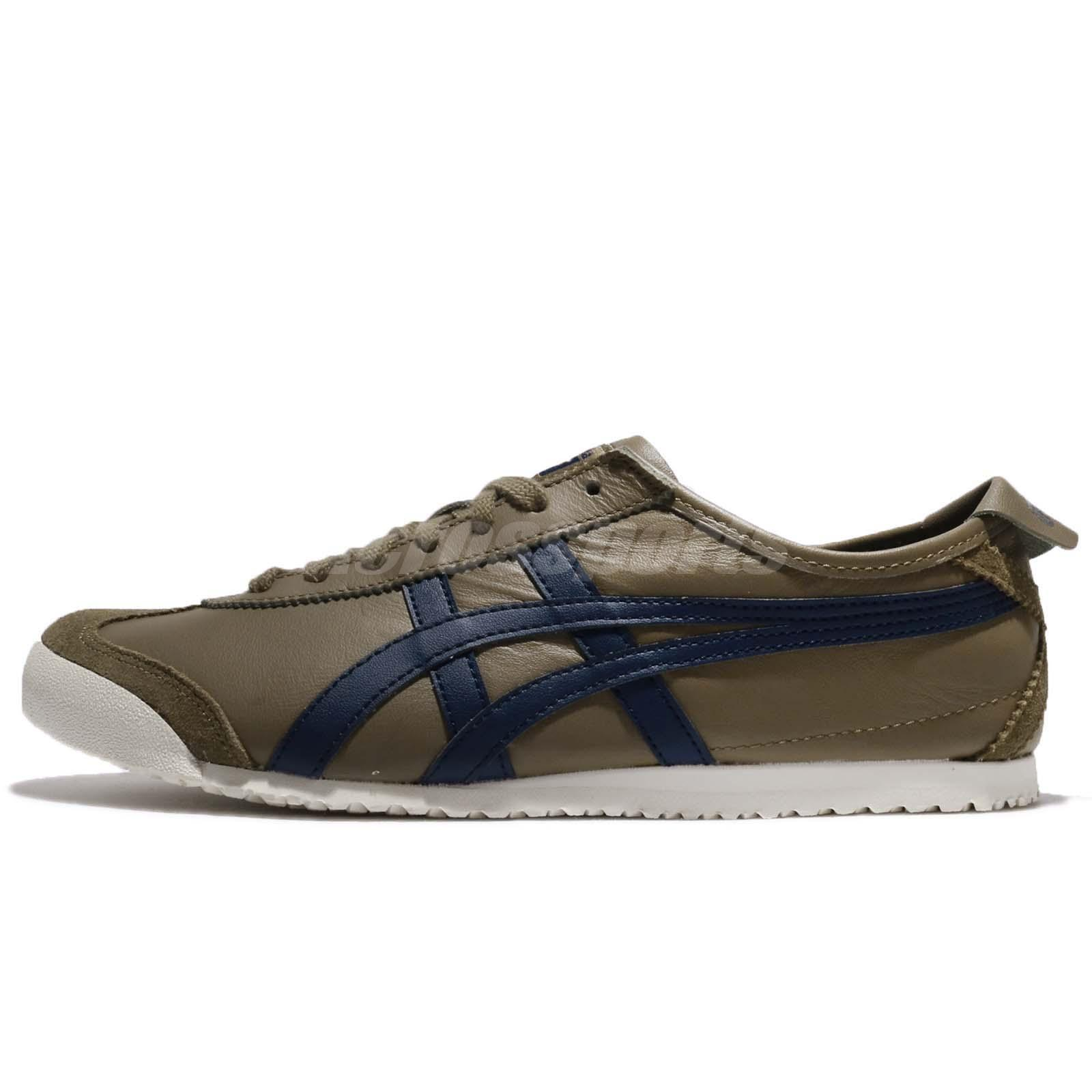 new product b5964 3ec9d Details about Asics Onitsuka Tiger Mexico 66 Martini Olive Peacoat Leather  Men Shoe D4J2L-8658