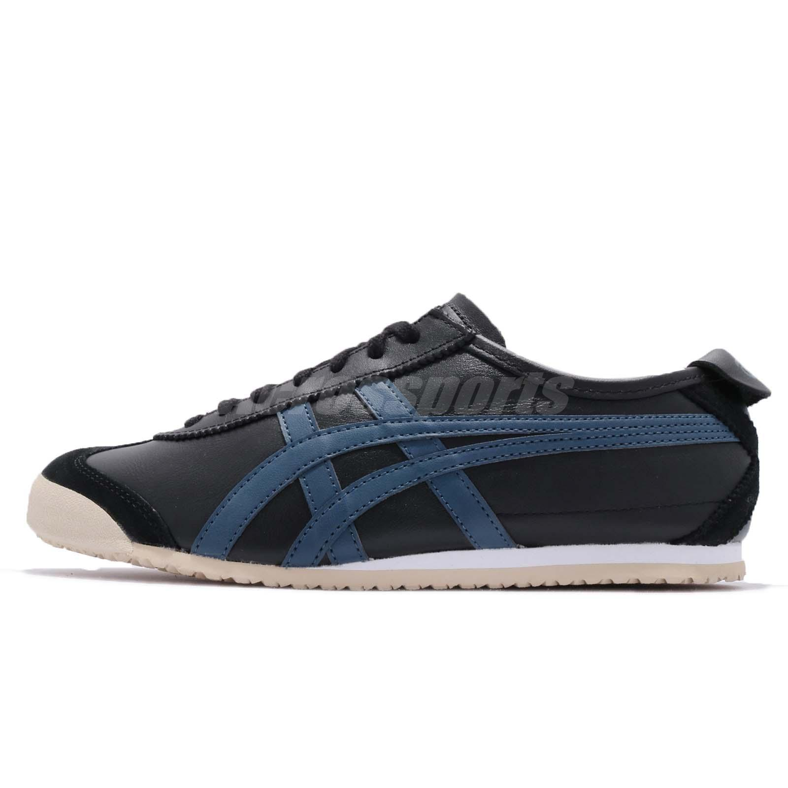 Asics Onitsuka Tiger Mexico 66 Black Blue Men Running Shoes Sneakers D4J2L 9058