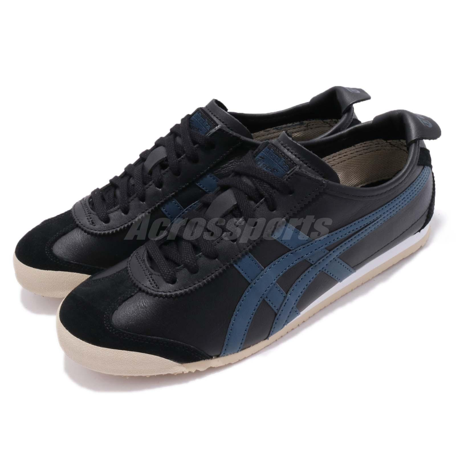 official photos 80eb0 275b8 Details about Asics Onitsuka Tiger Mexico 66 Black Blue Men Running Shoes  Sneakers D4J2L-9058