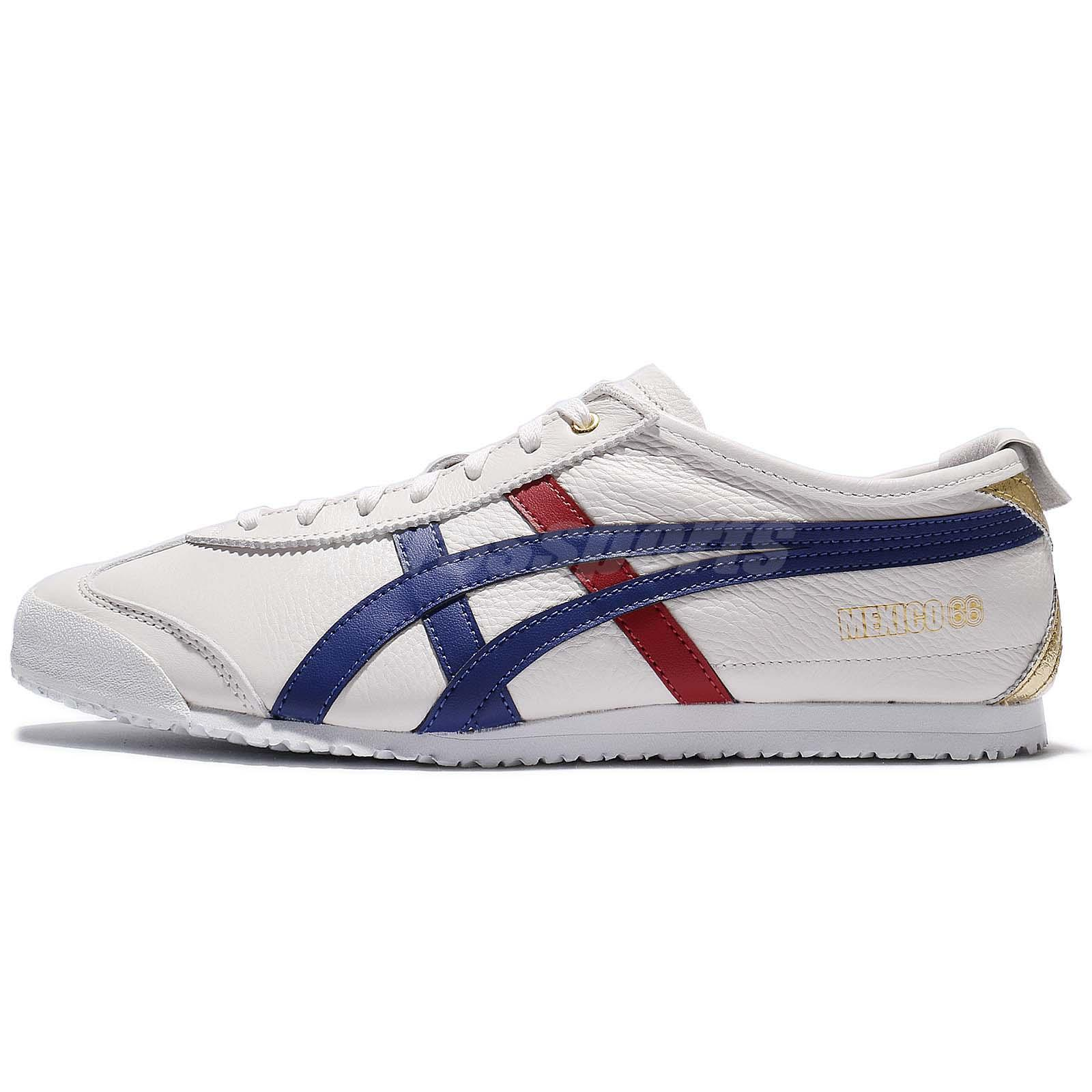 buy popular 303f7 ac64d Details about Asics Onitsuka Tiger Mexico 66 Limited Premium Pack Ivory  Navy Men D507L-0152