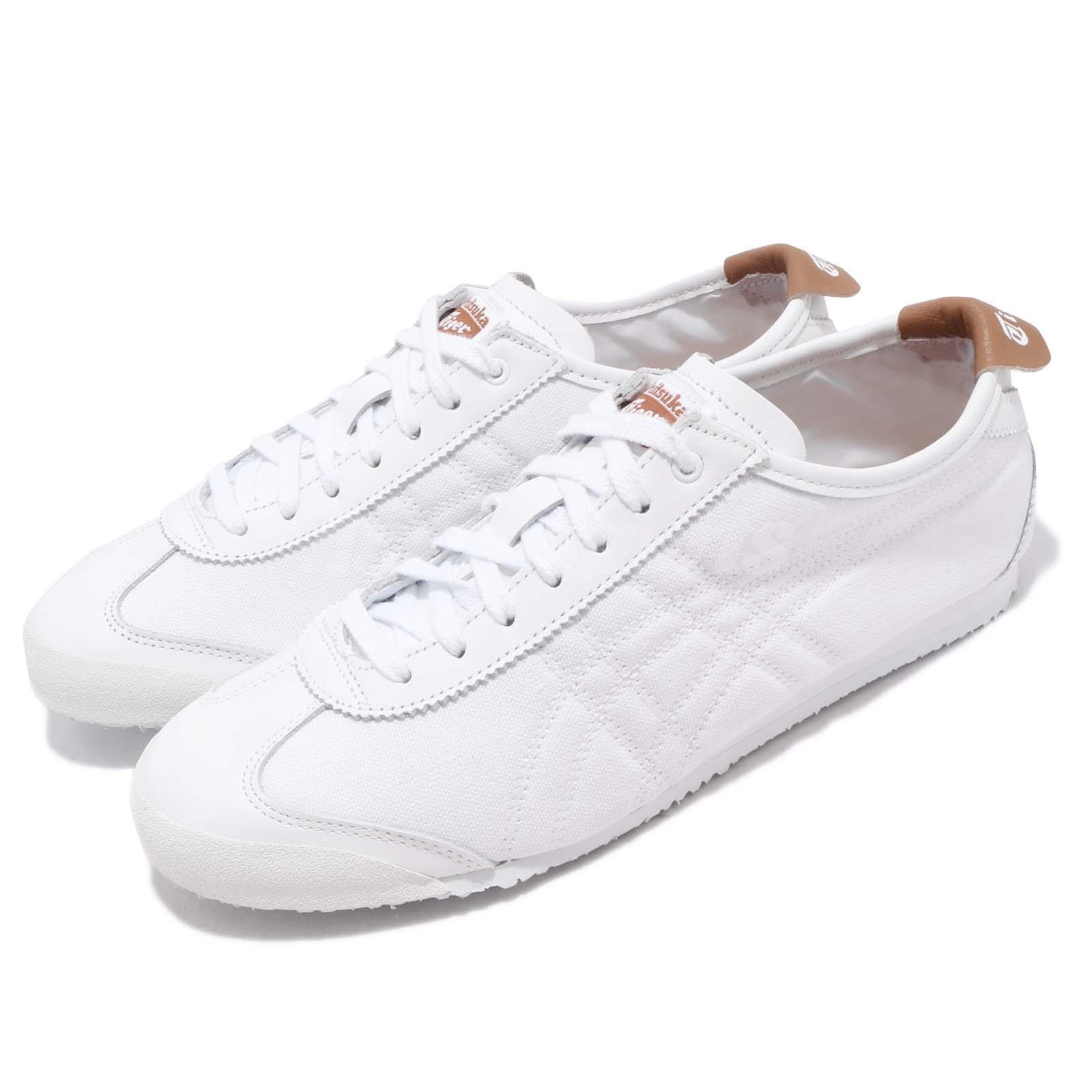 new style e7ee1 f1f8d Detalles acerca de Asics Onitsuka Tiger Mexico 66 Blanco Marrón Hombres  Running Zapatos TENIS D508K-0161- mostrar título original