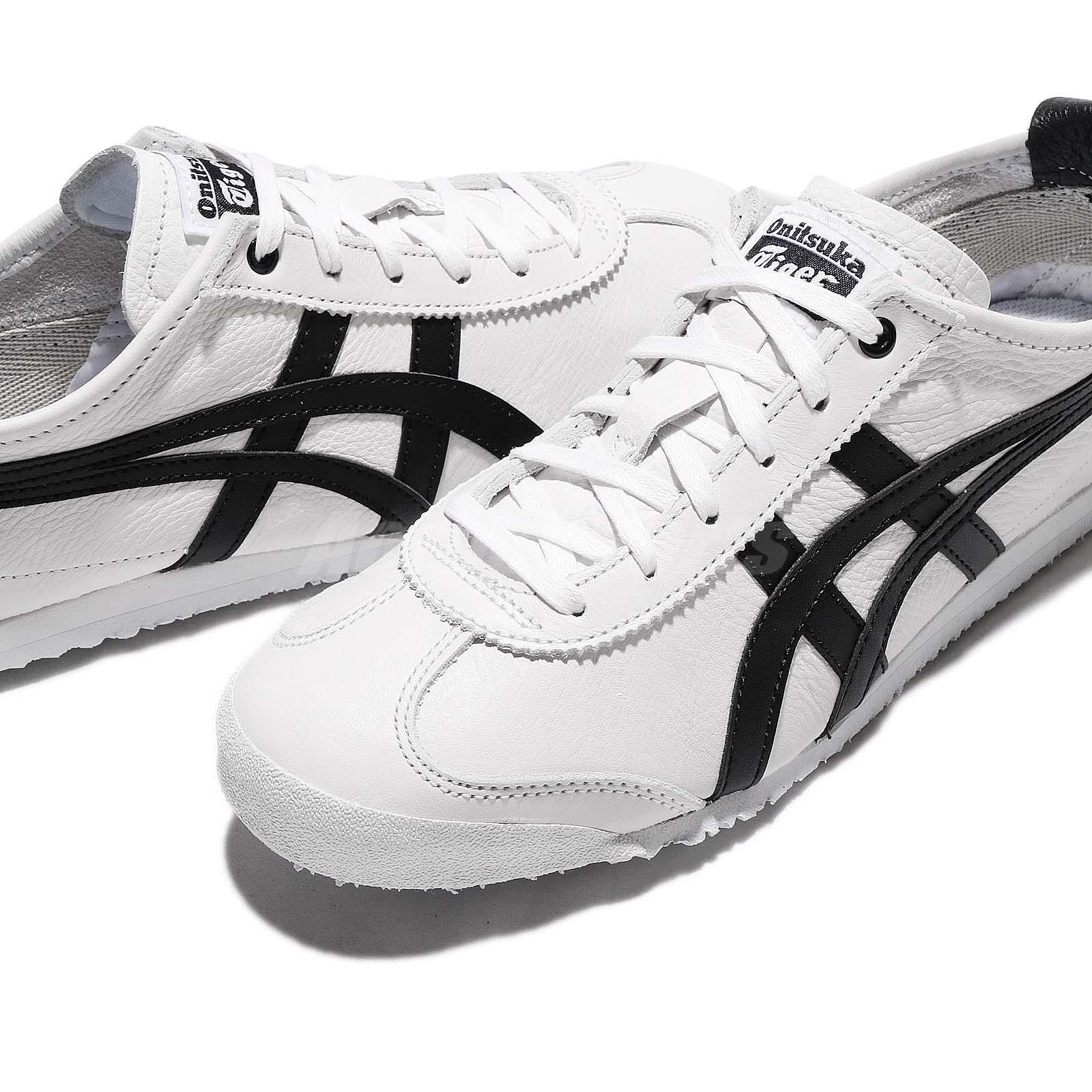 abc5a9c71a5 Asics Onitsuka Tiger Mexico 66 White Black Leather Men Classic Shoes ...