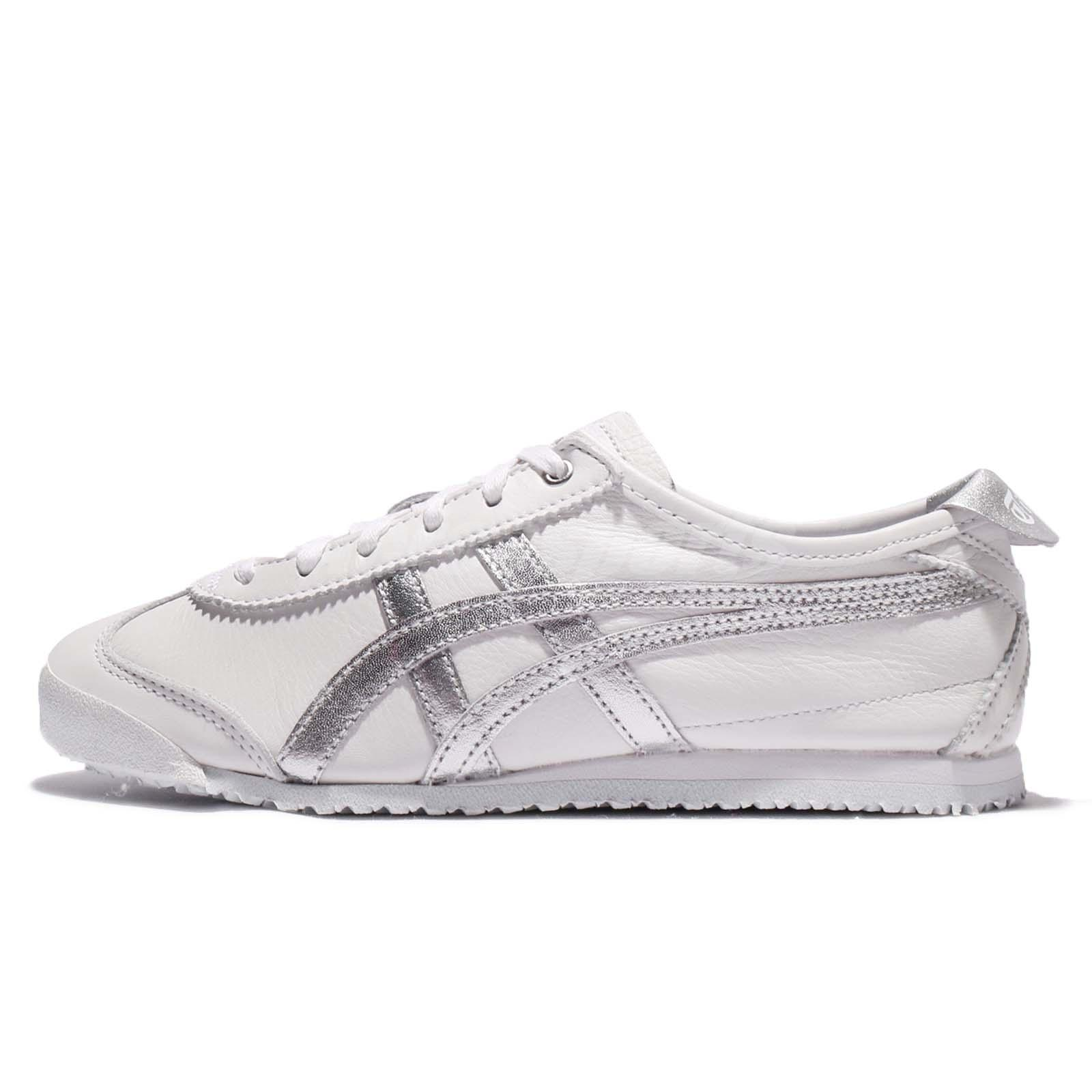 half off 7010e 93b18 Details about Asics Onitsuka Tiger Mexico 66 White Silver Leather Men Shoe  Sneakers D508K-0193