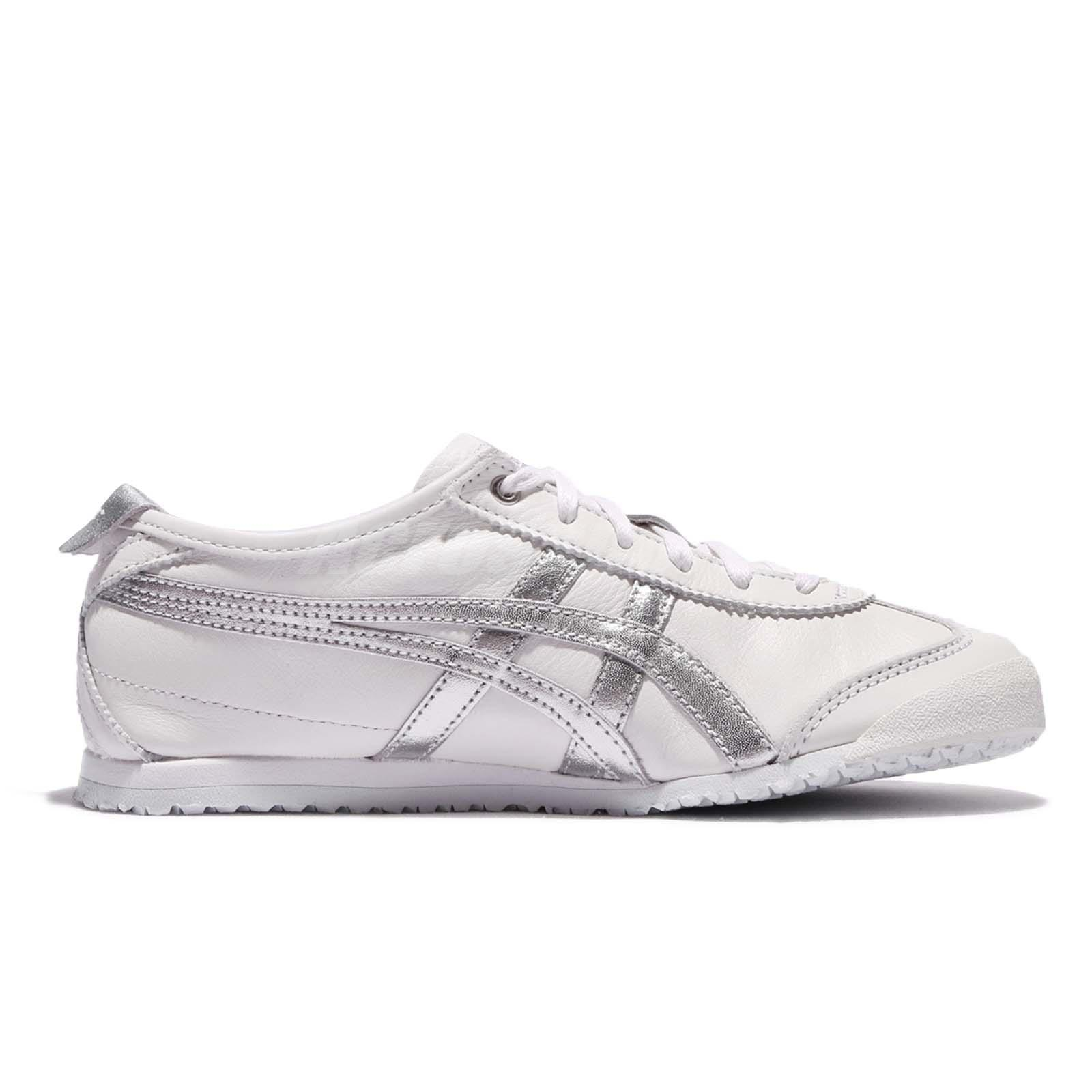 half off 878eb f6d64 Details about Asics Onitsuka Tiger Mexico 66 White Silver Leather Men Shoe  Sneakers D508K-0193