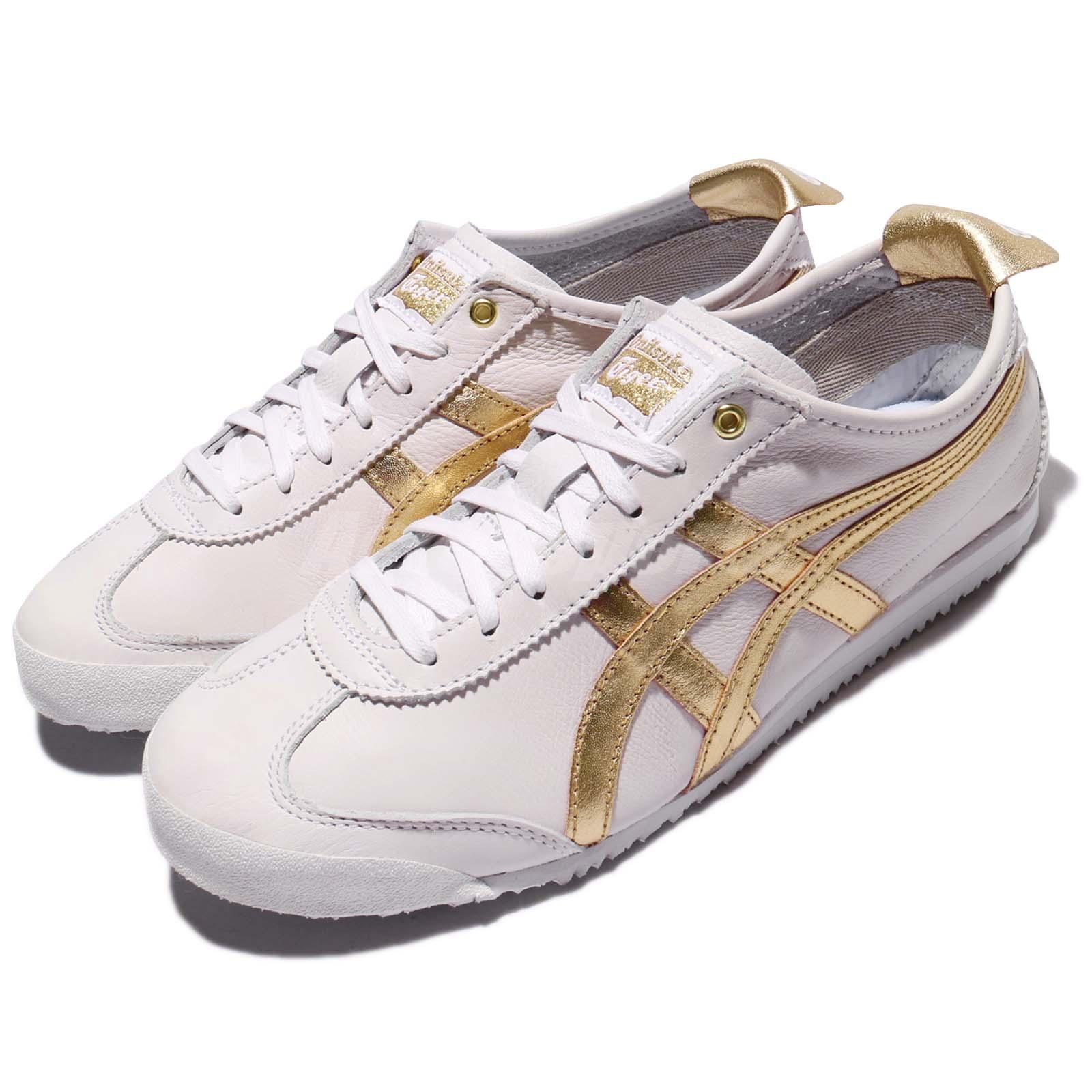 Details about Asics Onitsuka Tiger Mexico 66 White Gold Leather Men Women Vintage D508K-0194