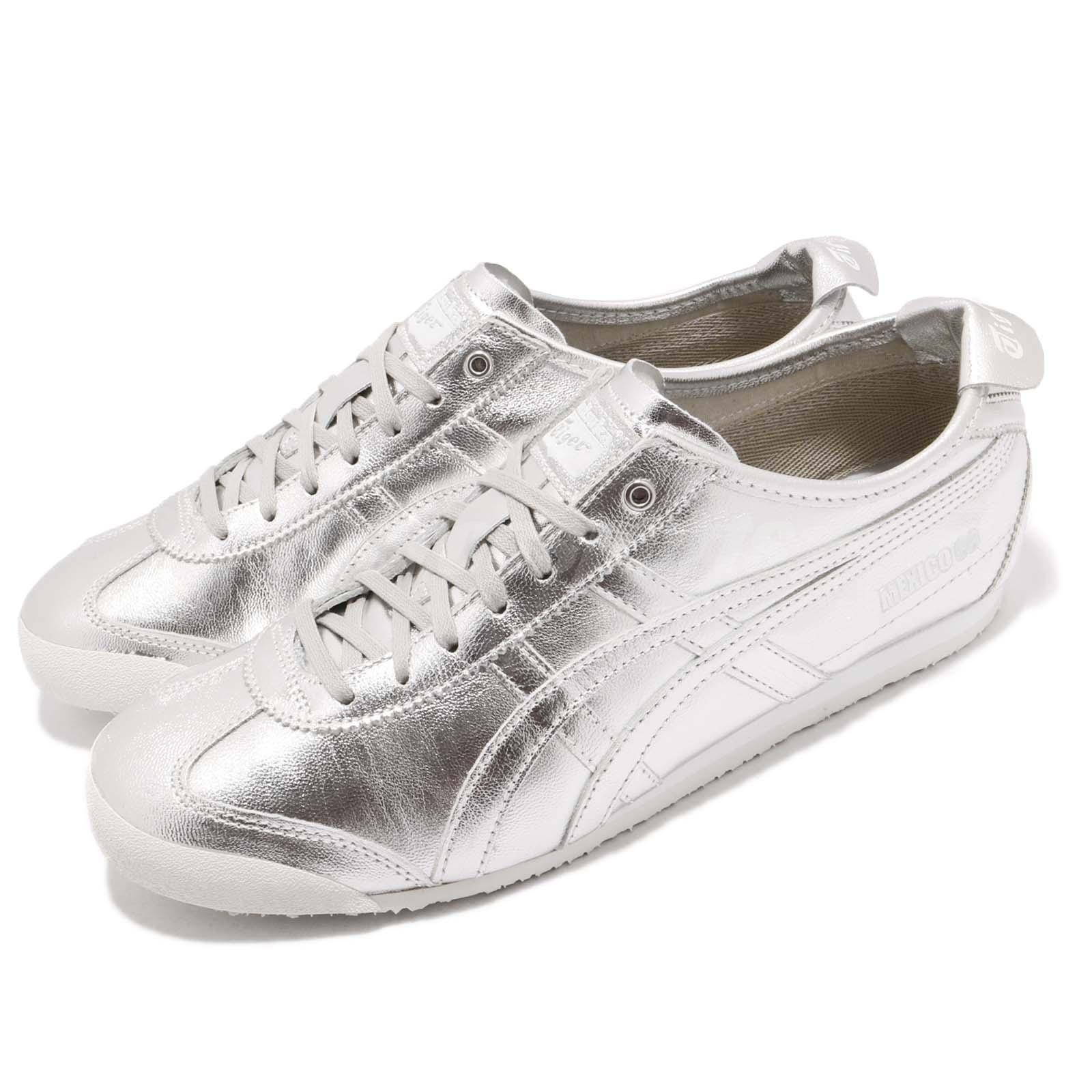 size 40 1a0f6 dedc7 Detalles acerca de Asics Onitsuka Tiger MEXICO 66 Zapatos informales de  hombre Blanco Plateado Correr D5R1L-9393- mostrar título original
