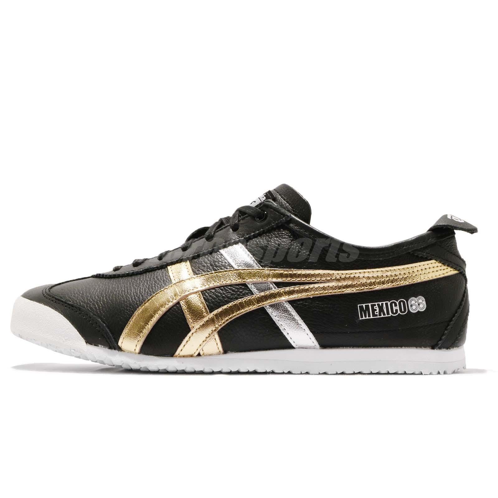 new arrival 3619c 79046 Asics Onitsuka Tiger Mexico 66 Black Gold Men Running Shoes Sneakers  D5V2L-9094