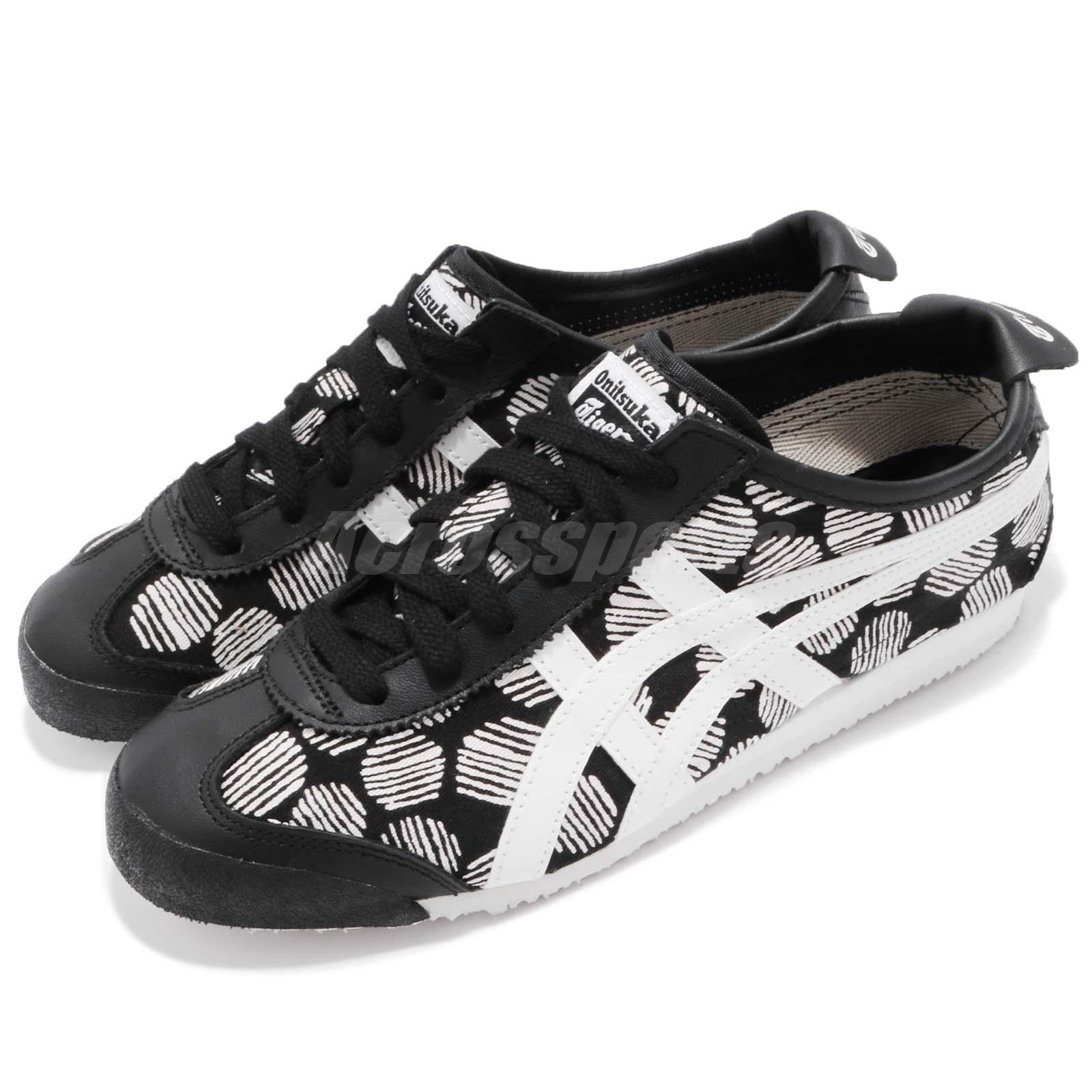 buy popular 199d0 d0b67 Details about Asics Onitsuka Tiger Mexico 66 Black White Round Men Running  Shoes D620N-9001