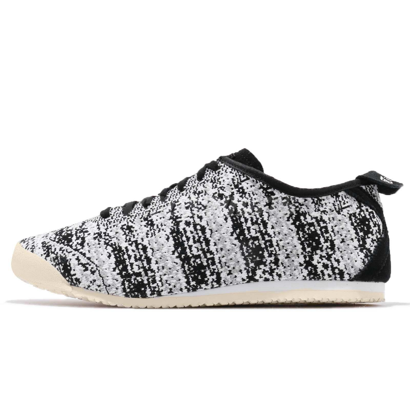buy popular 42746 e9e5c Details about Asics Onitsuka Tiger Mexico 66 Knit Black Grey Men Running  Shoes D703N-9090