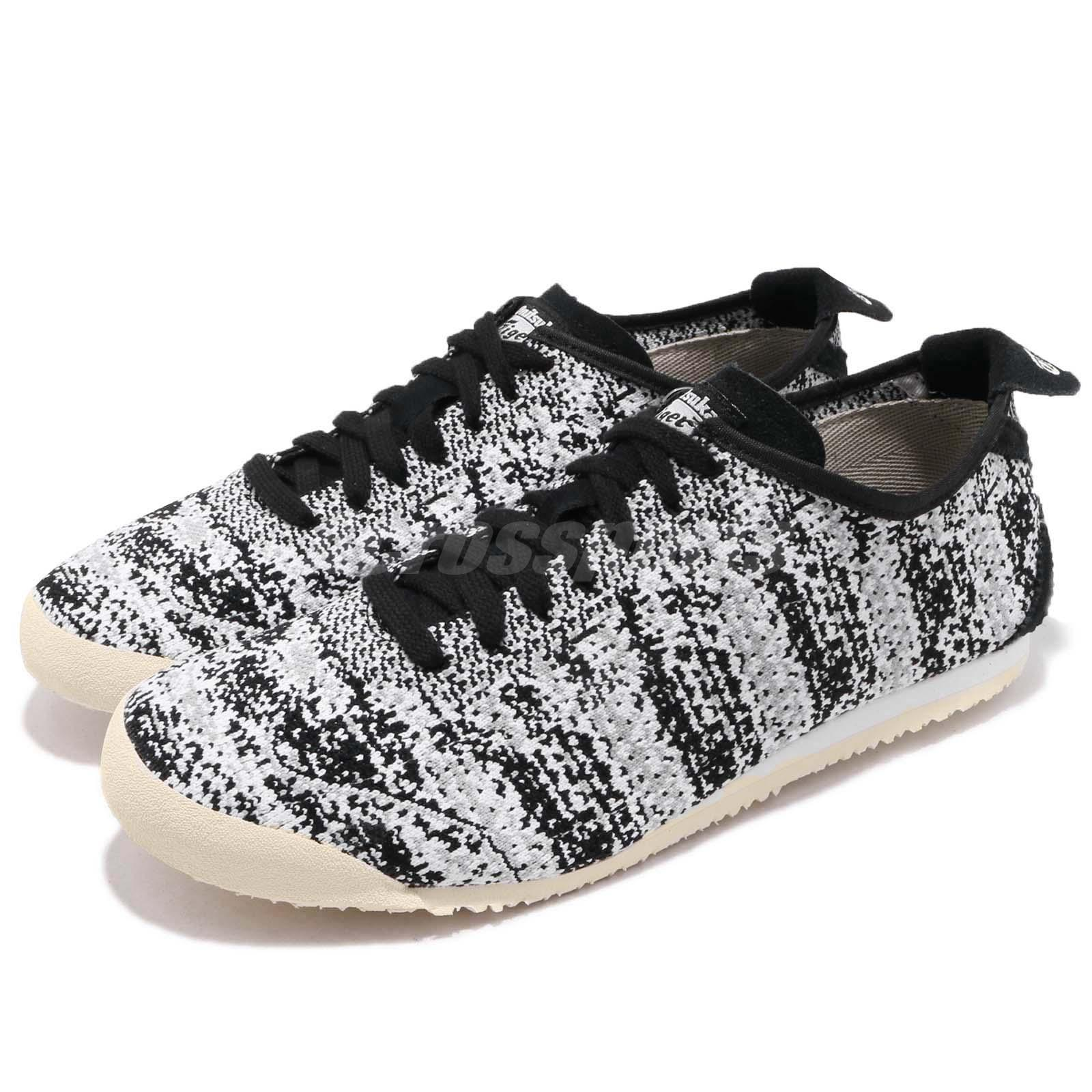 buy popular 37a8c 69c23 Details about Asics Onitsuka Tiger Mexico 66 Knit Black Grey Men Running  Shoes D703N-9090