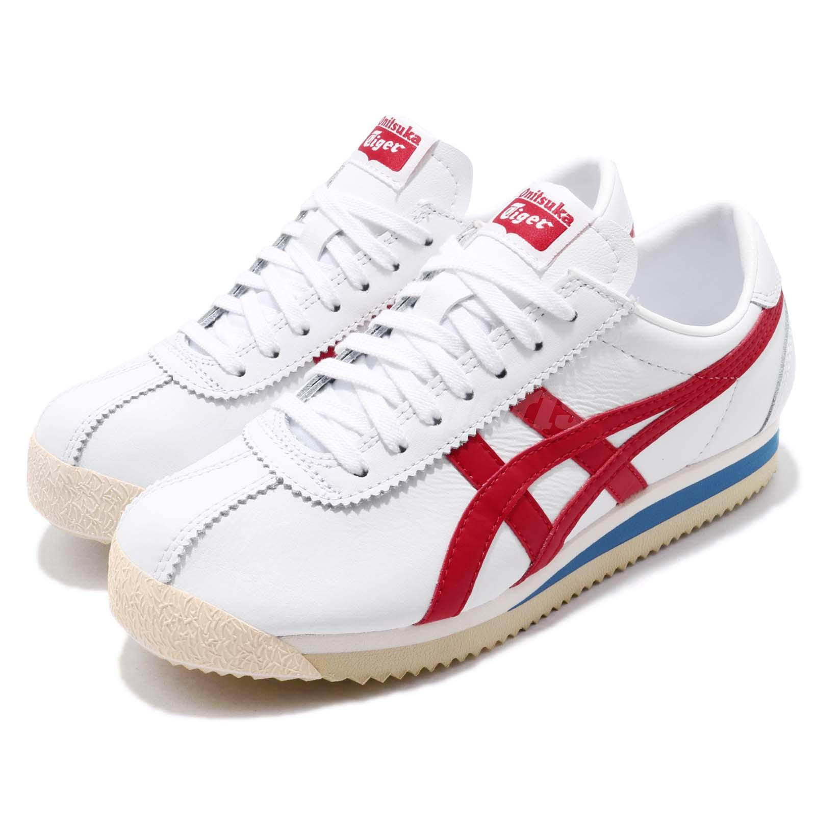 hot sale online 56edb d11f2 Details about Asics Onitsuka Tiger Corsair White Red Blue Mens Retro  Running Shoes D713L-0123
