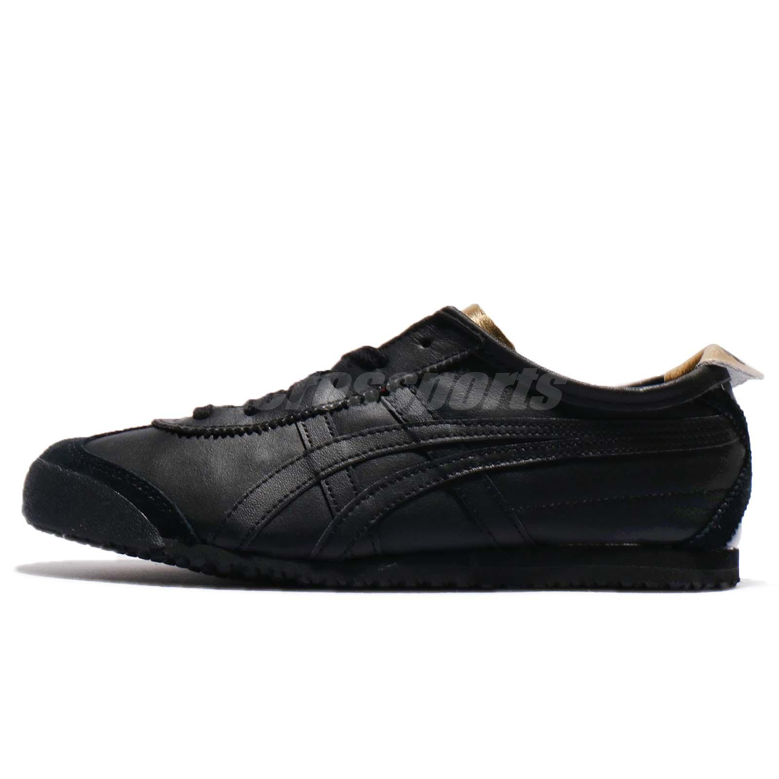 new arrival 83ee8 9d05e Details about Asics Onitsuka Tiger Mexico 66 Triple Black Retro Men Women  Sneakers D7C3L-9090