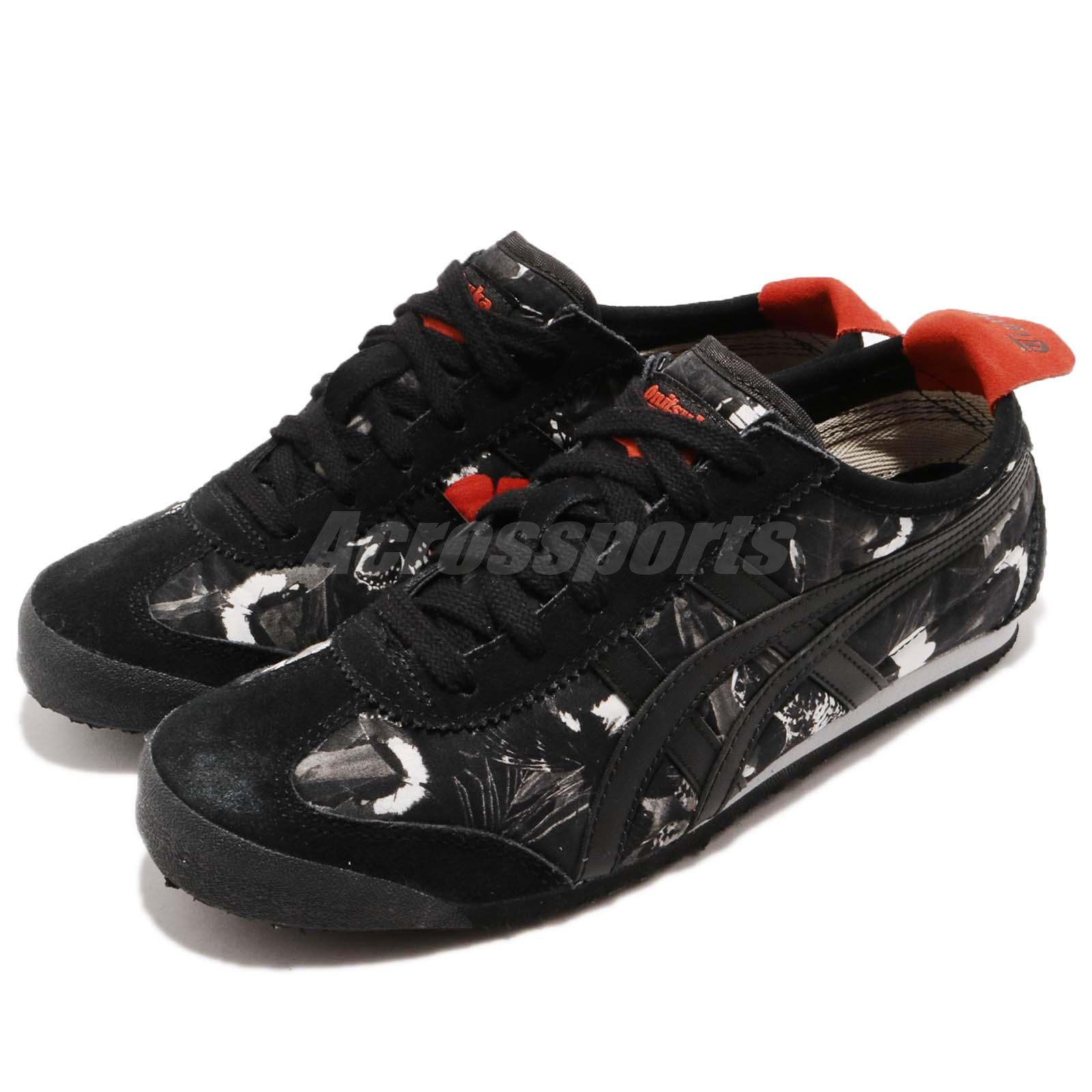 reputable site 81b90 b9f1f Details about Asics Onitsuka Tiger Mexico 66 Black Red White Women Running  Shoes D7G8N-9090