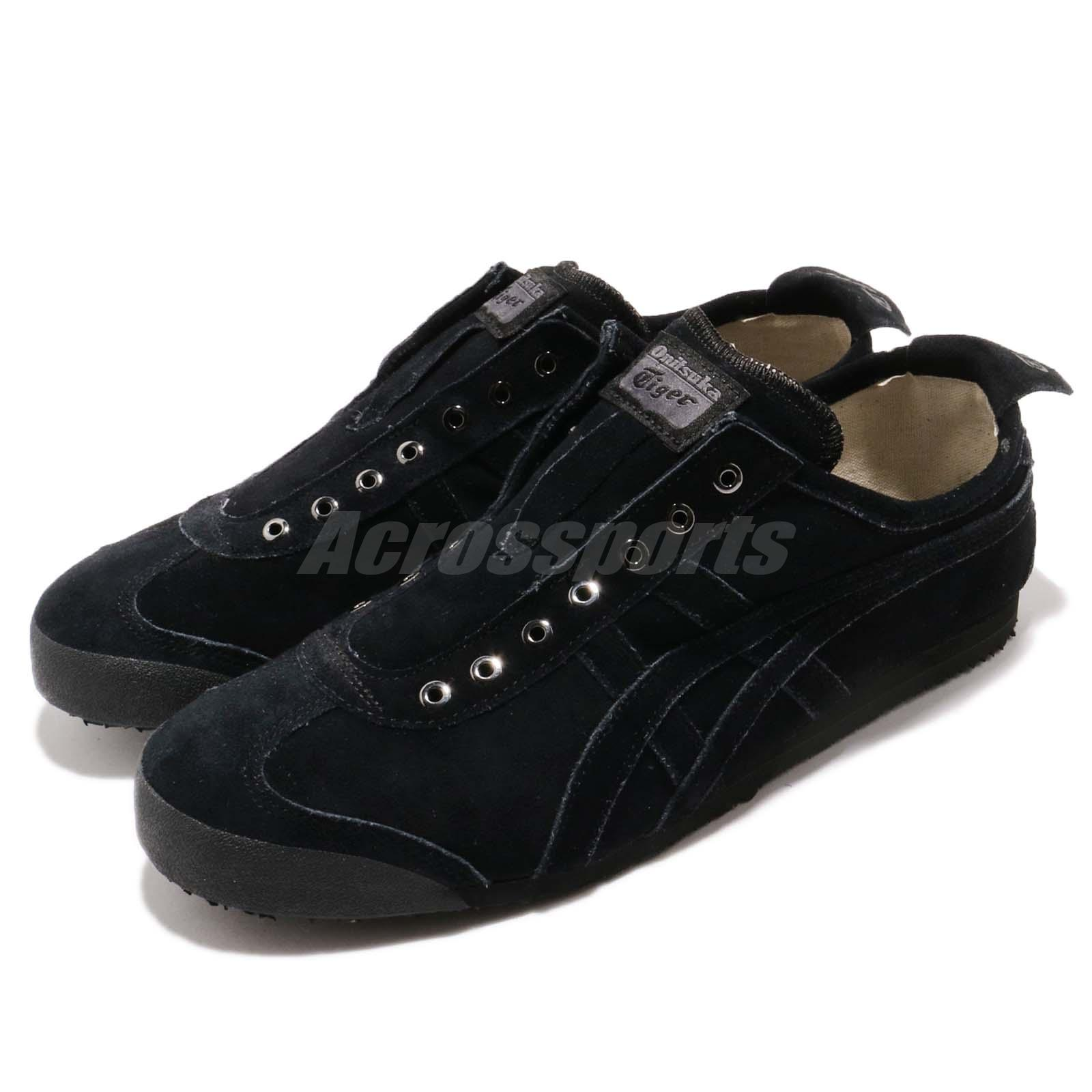 the best attitude c30fa a3edf Details about Asics Onitsuka Tiger Mexico 66 Slip On Black Men Casual Shoes  Sneaker D7L1L-9090