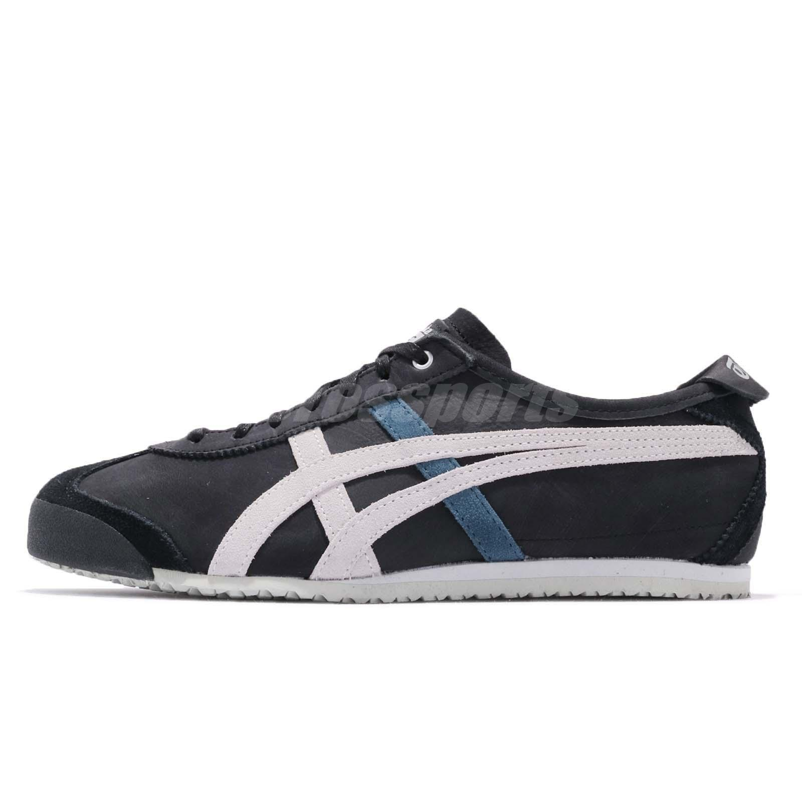 size 40 d14b2 cd3b8 Details about Asics Onitsuka Tiger Mexico 66 Black Grey Men Vintage Running  Shoes D832L-9096