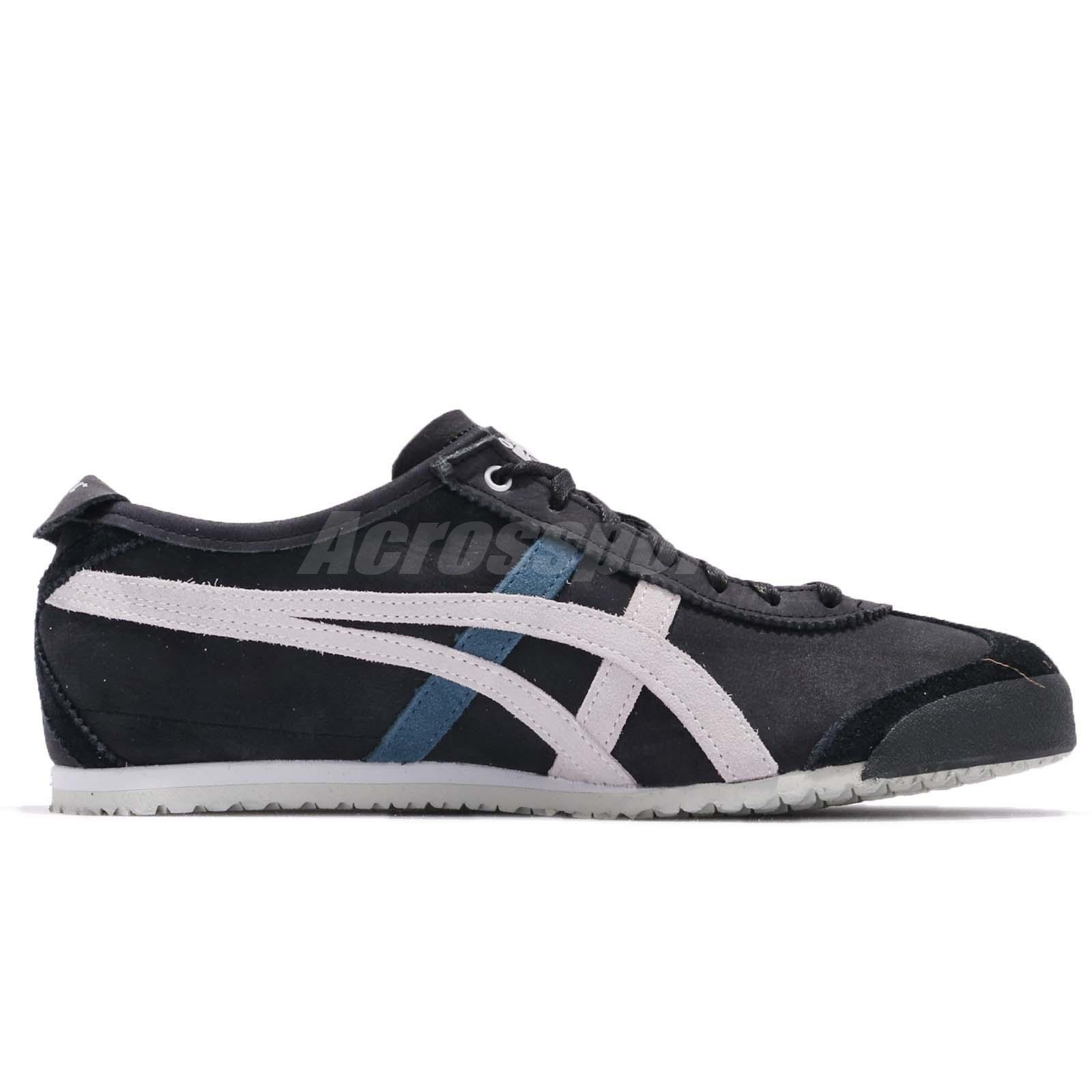 onitsuka tiger mexico 66 black glacier grey quality letra en
