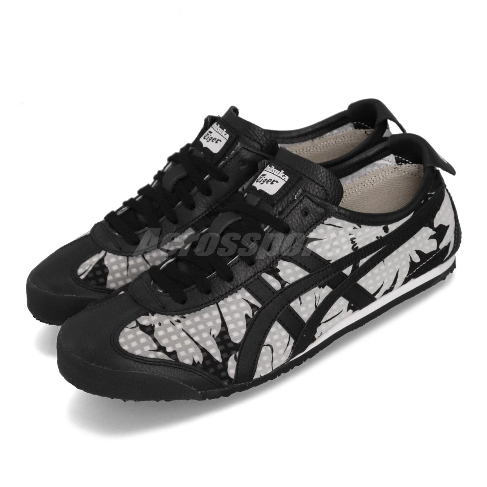 best service 897fe dd214 Details about Asics Onitsuka Tiger Mexico 66 Black White Grey Women Running  Shoes D860N-9090