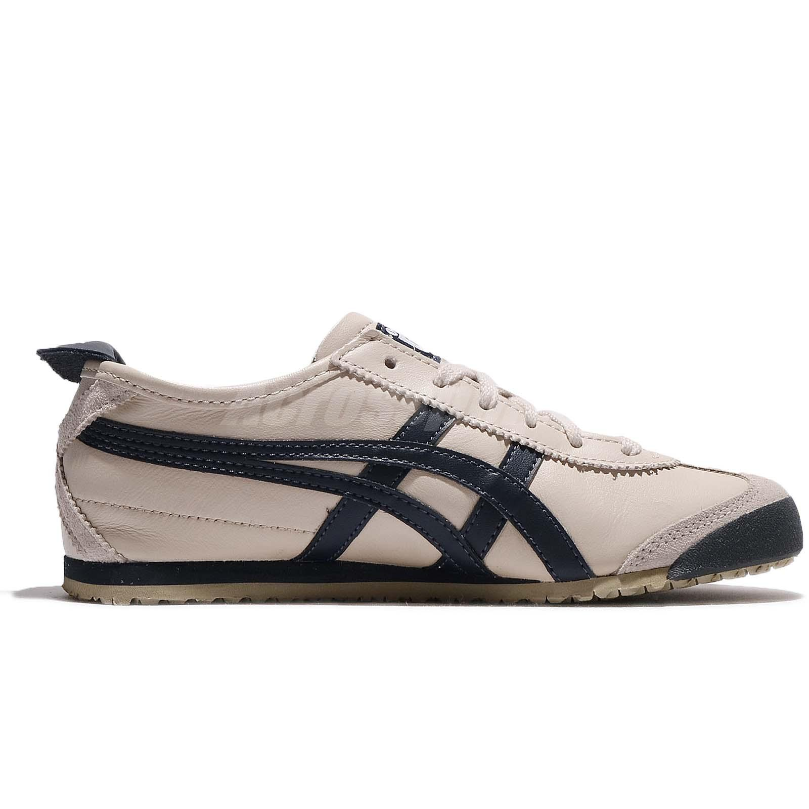 MensWomens Asics Onitsuka Tiger Mexico Mid Runner Shoes BeigeDark Blue Thl3281208 New Style