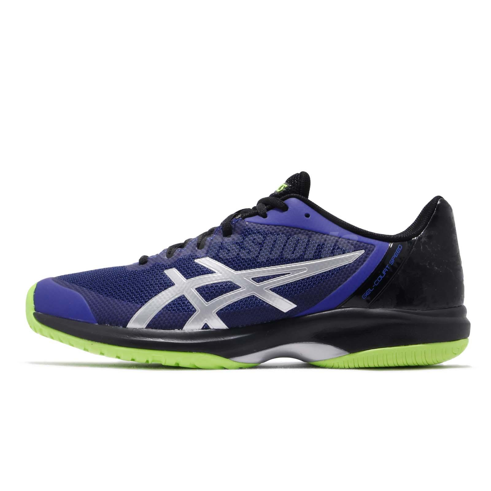 12fabac44523 Asics Gel-Court Speed Blue Silver Black Men Tennis Shoes Sneakers E800N-410
