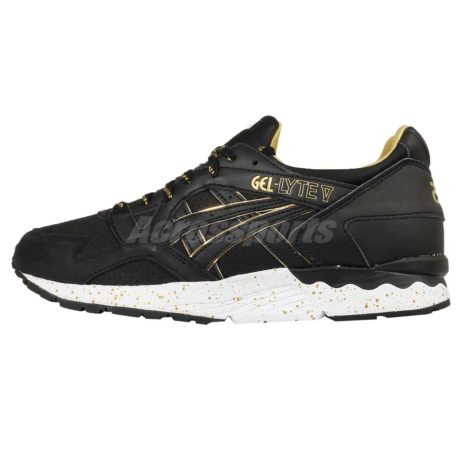 brand new 022f7 db0e4 Asics Tiger Gel-Lyte V 5 Gold Rush Pack Black Mens Running Shoes H605L-9090