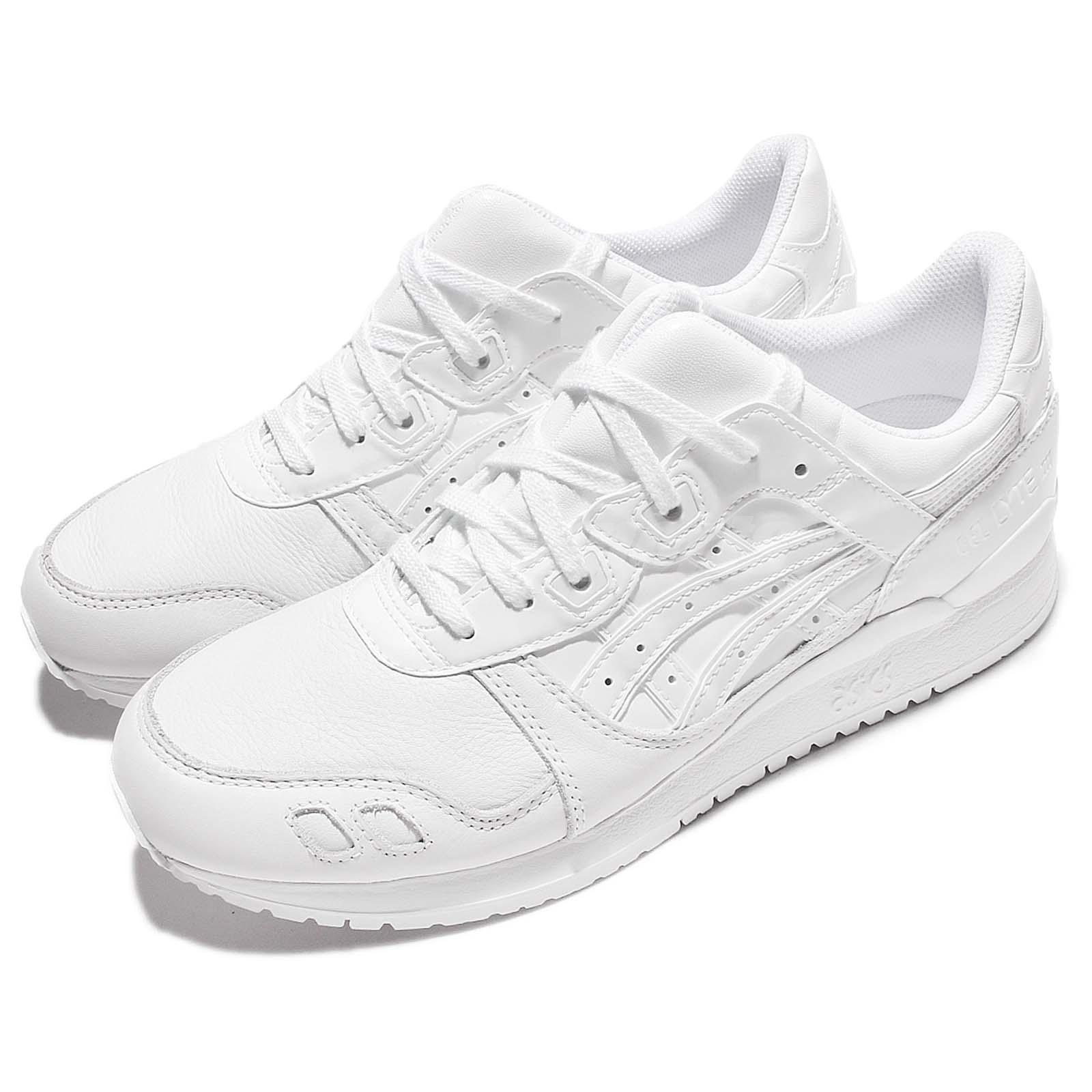 best sneakers 87501 f6589 Details about Asics Tiger Gel-Lyte III 3 Triple White Men Running Shoes  Sneakers H7E1Y-0101
