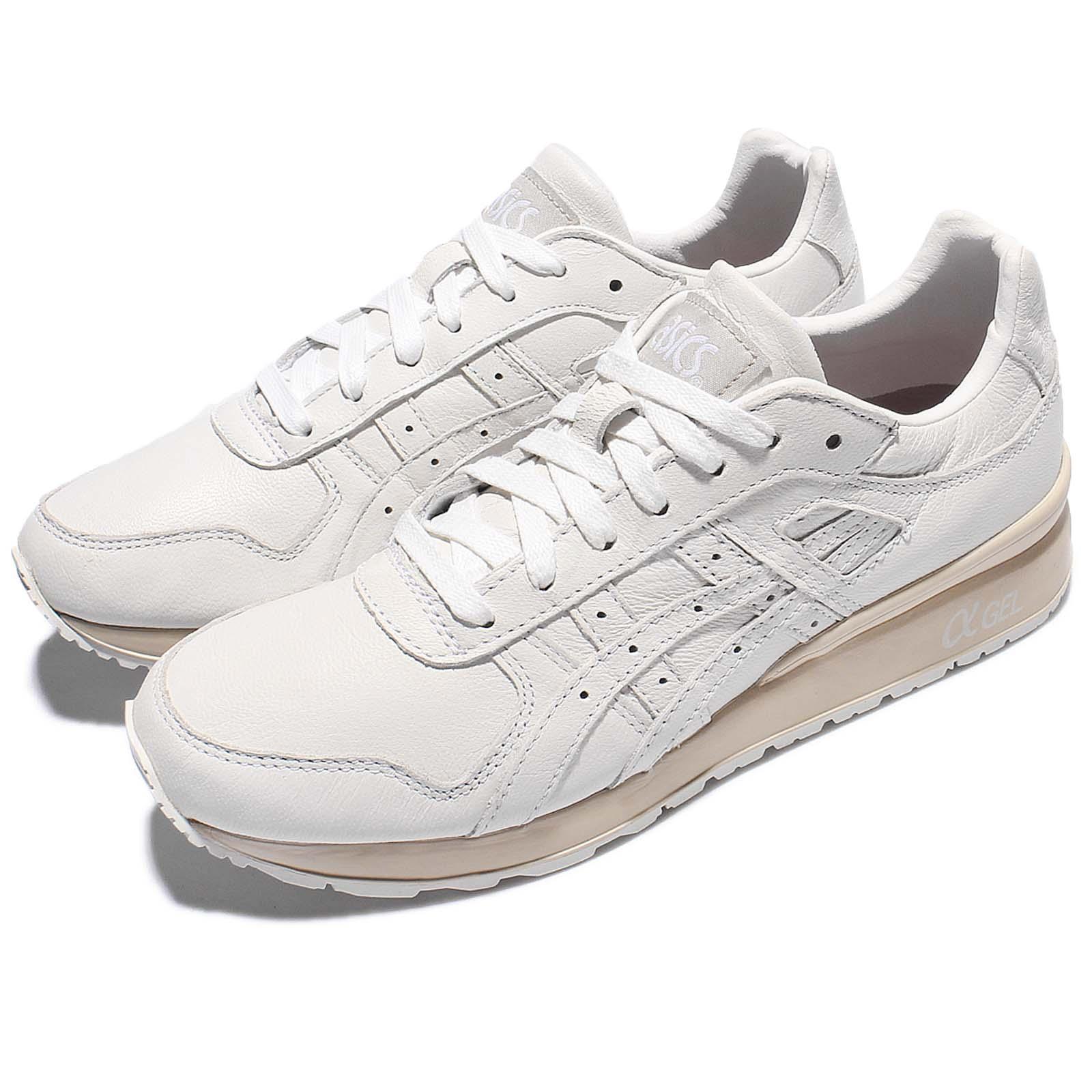 świetne oferty popularne sklepy 100% autentyczny Details about Asics Tiger GT-II 2 White Leather Khaki Gel Retro Men Shoes  Sneakers H7L2L-0101