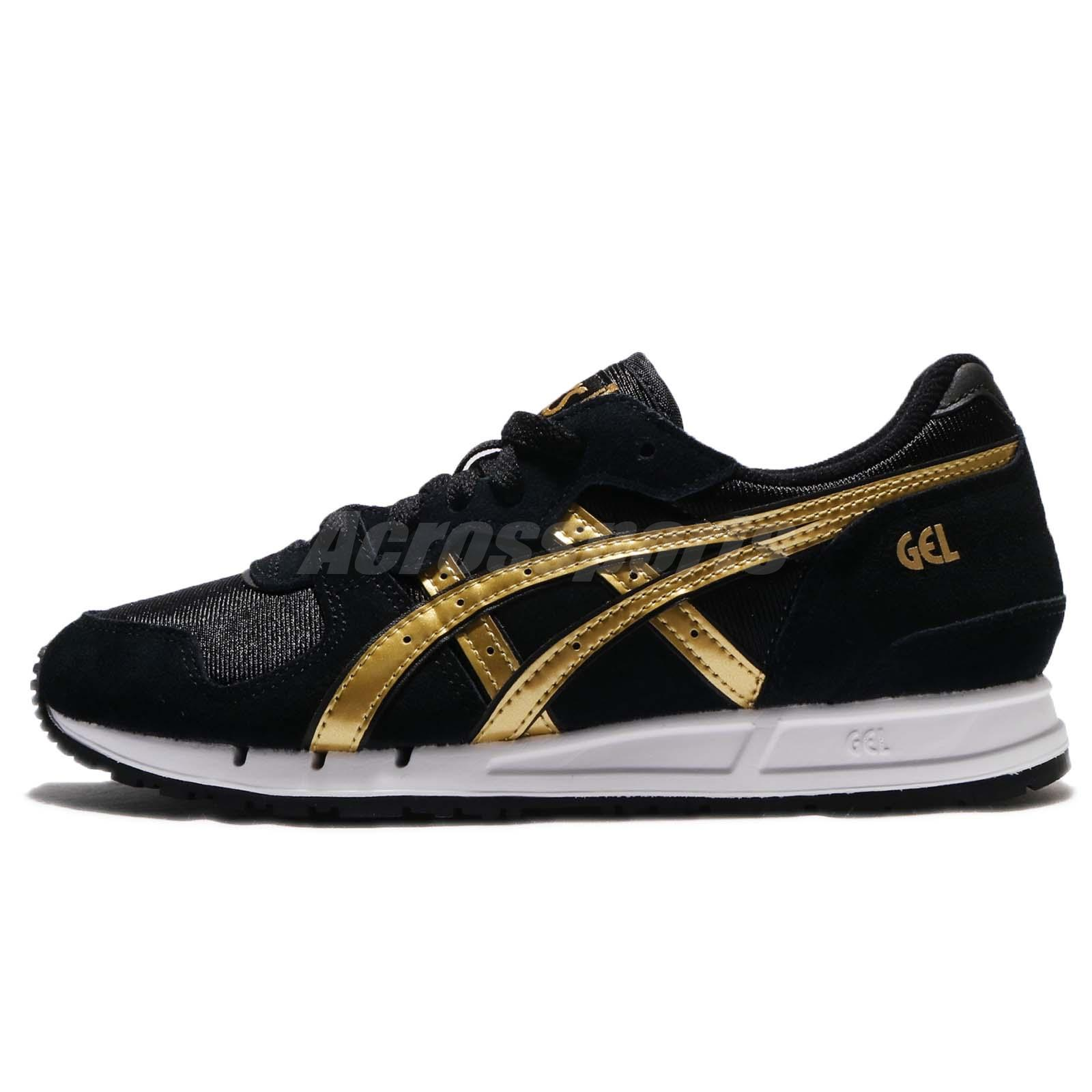 Asics Tiger Gel-Movimentum Black Gold Women Vintage Running Shoes H7X7L-9094