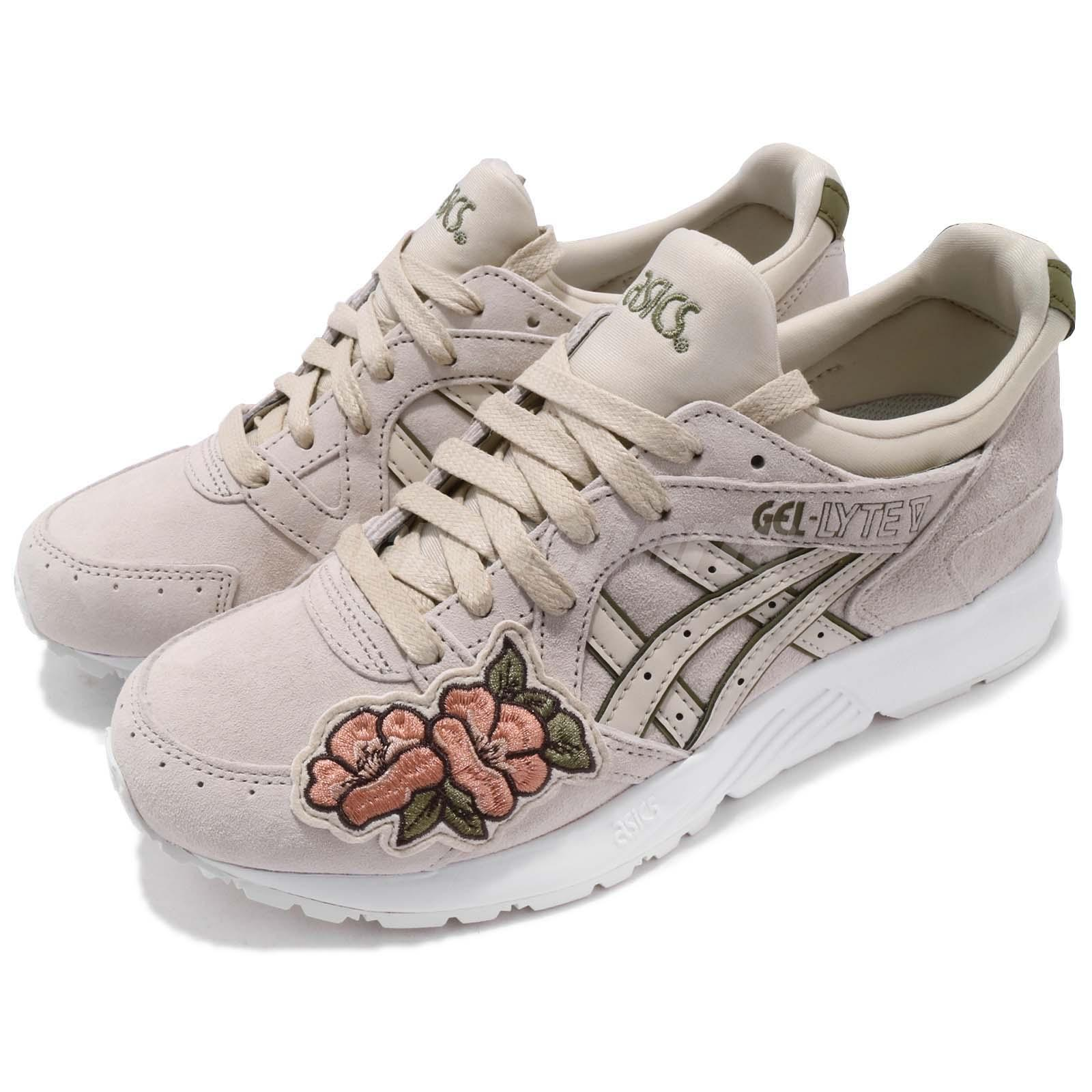804383df9e Details about Asics Tiger Gel-Lyte V Birch White Floral Men Women Running  Sneakers H8G5L-0202