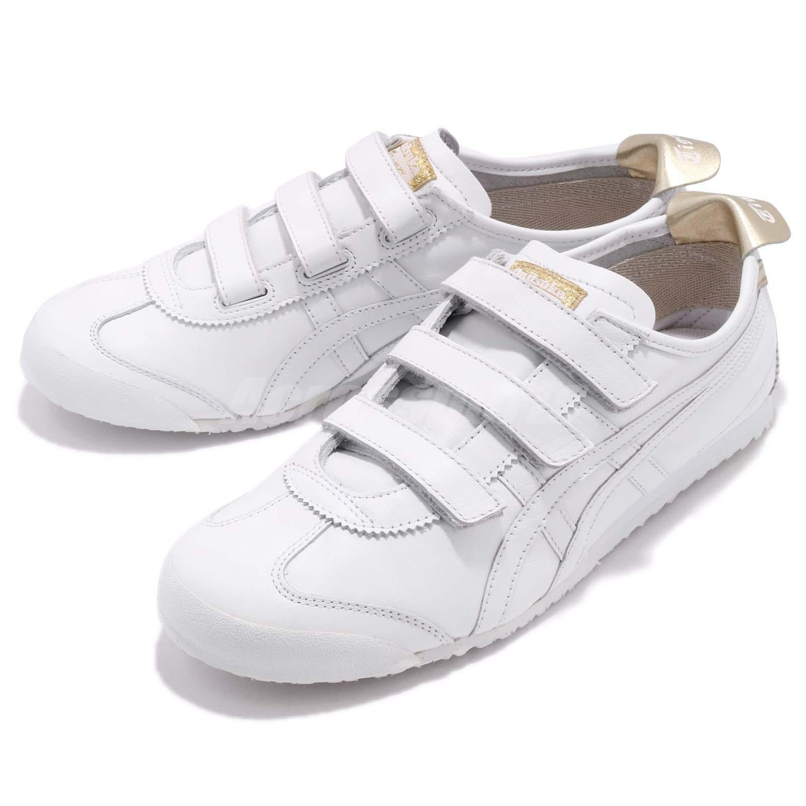 new style 64104 8caf3 Details about Asics Onitsuka Tiger Mexico 66 Baja Strap White Gold Men Shoe  Sneaker HK4A1-0194