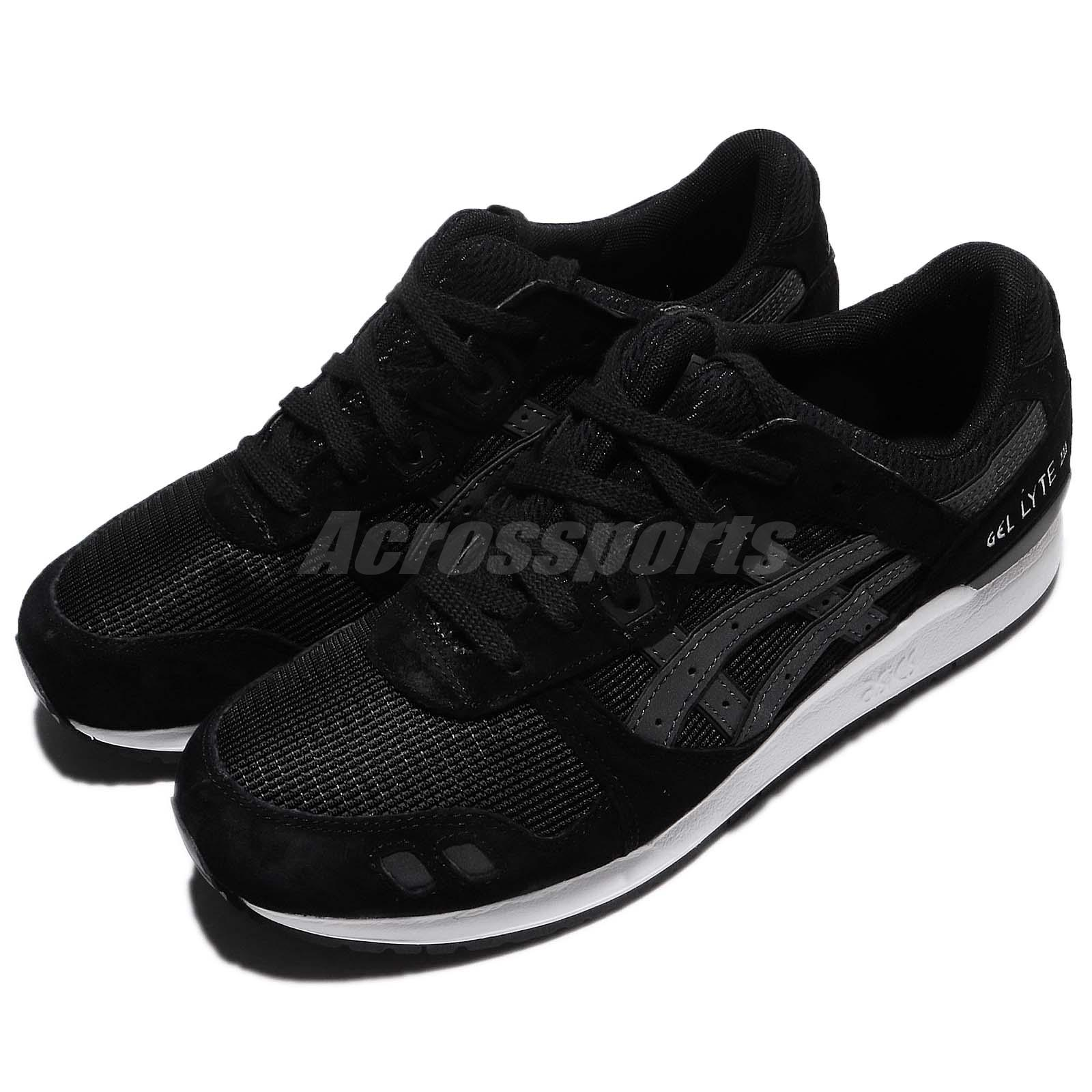 low priced b3f84 b01ab Details about Asics Tiger Gel-Lyte III 3 Black White Men Running Shoes  Sneakers HL7Y09090