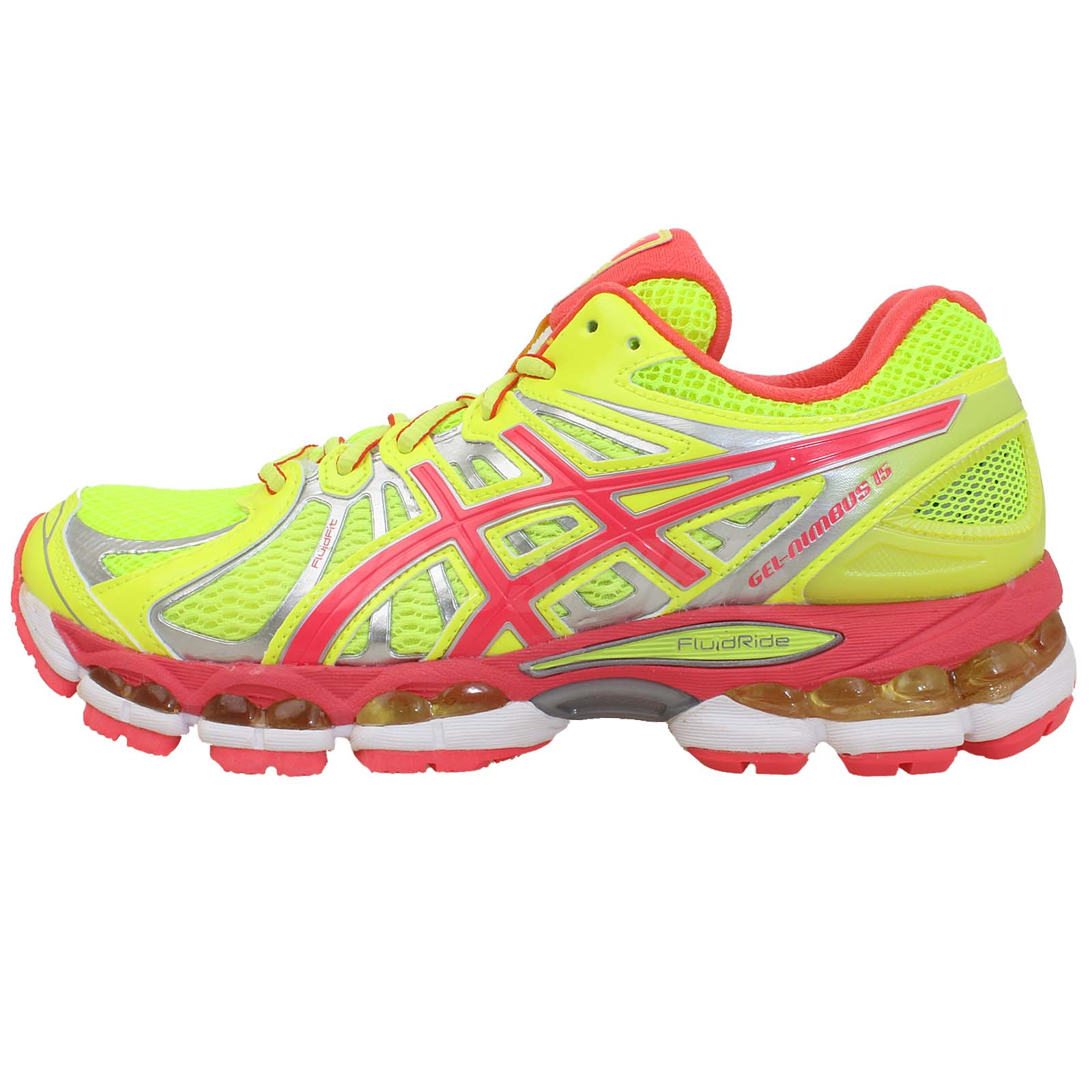 Asics Gel-Nimbus 15 2013 Neon Yellow Pink Womens Cute ...