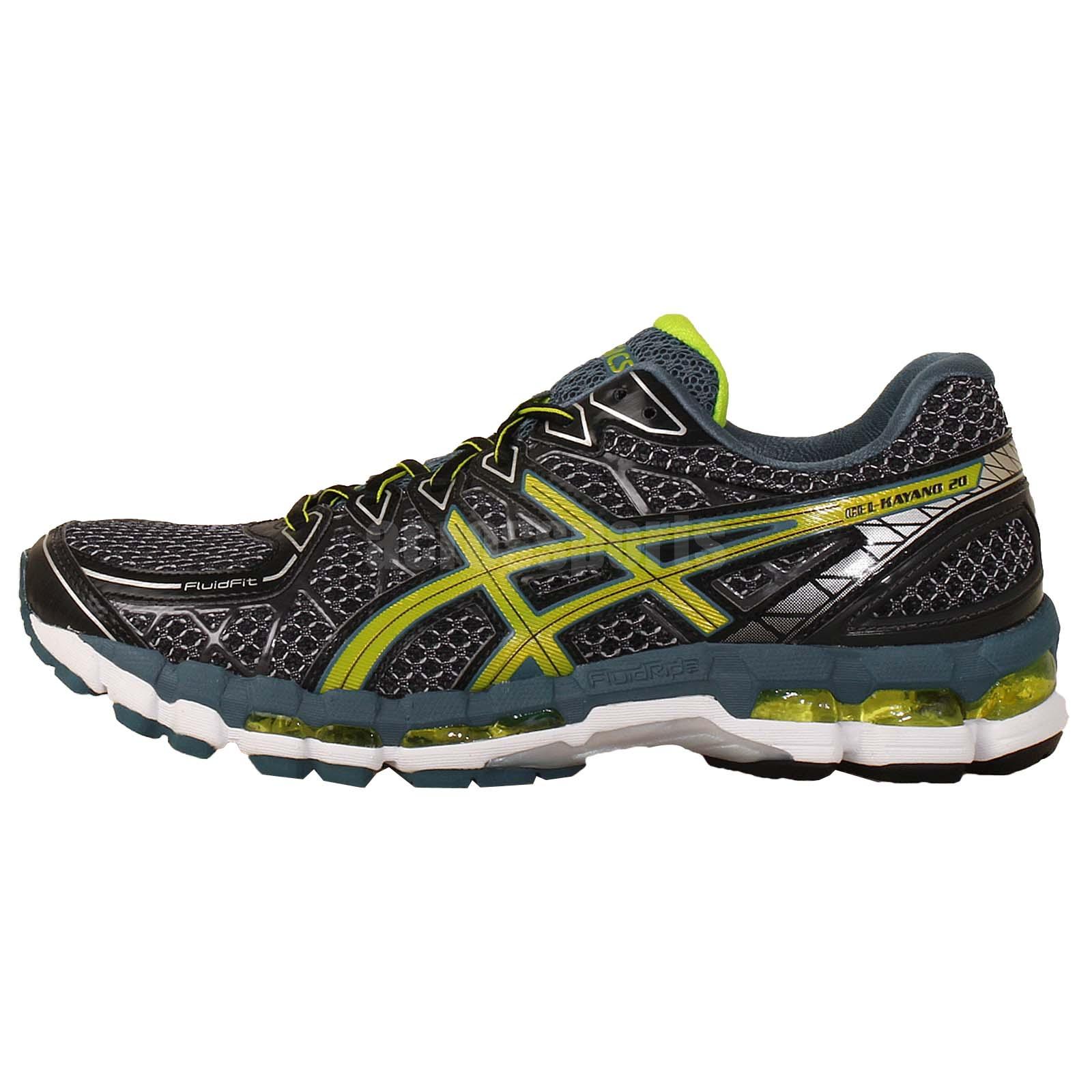 free shipping 8a8b5 63eae ... uk asics gel kayano 20 black green mens running jogging shoes trainers  t3n2n 9005 . 553a7