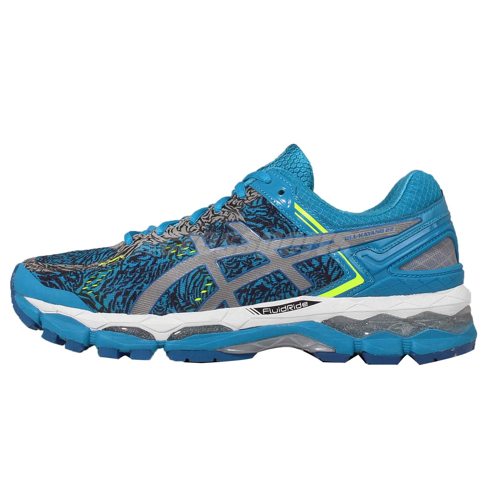 Asics Gel Kayano 22 Lite Show Blue Silver Mens Running Shoes Trainers T5A1Q 4193