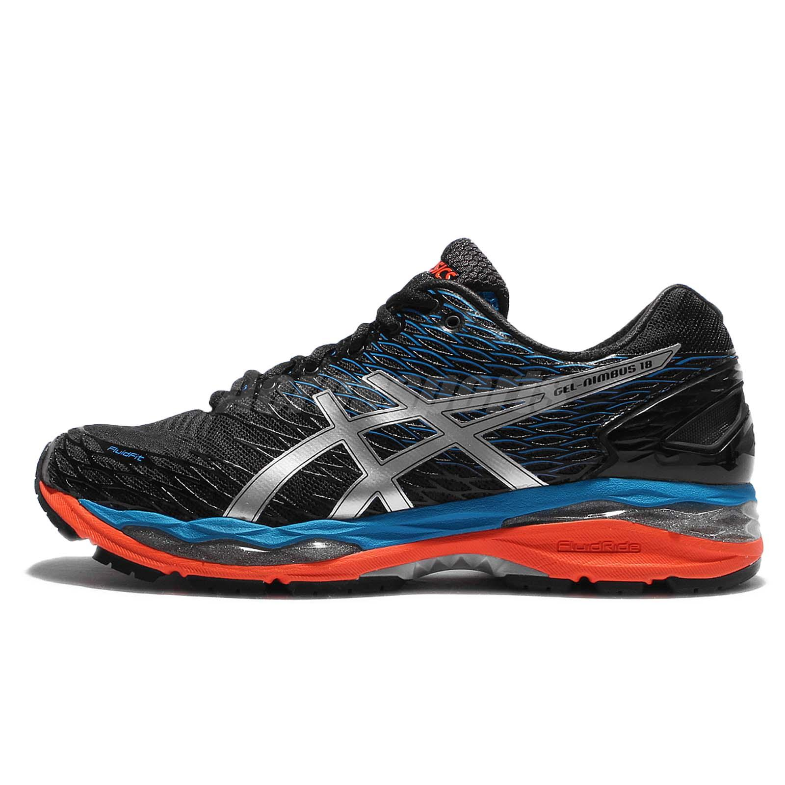 asics gel nimbus 18 black silver blue mens running shoes sneakers t600n 9993 ebay. Black Bedroom Furniture Sets. Home Design Ideas