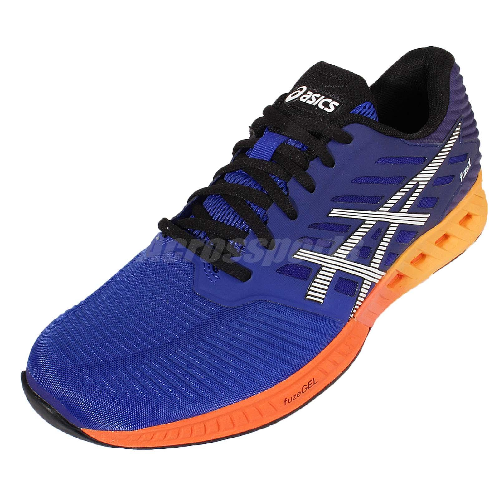d17dfe01 Details about Asics FuzeX Navy Orange Mens Cushion Running Shoes Trainers  Sneakers T639N-4350