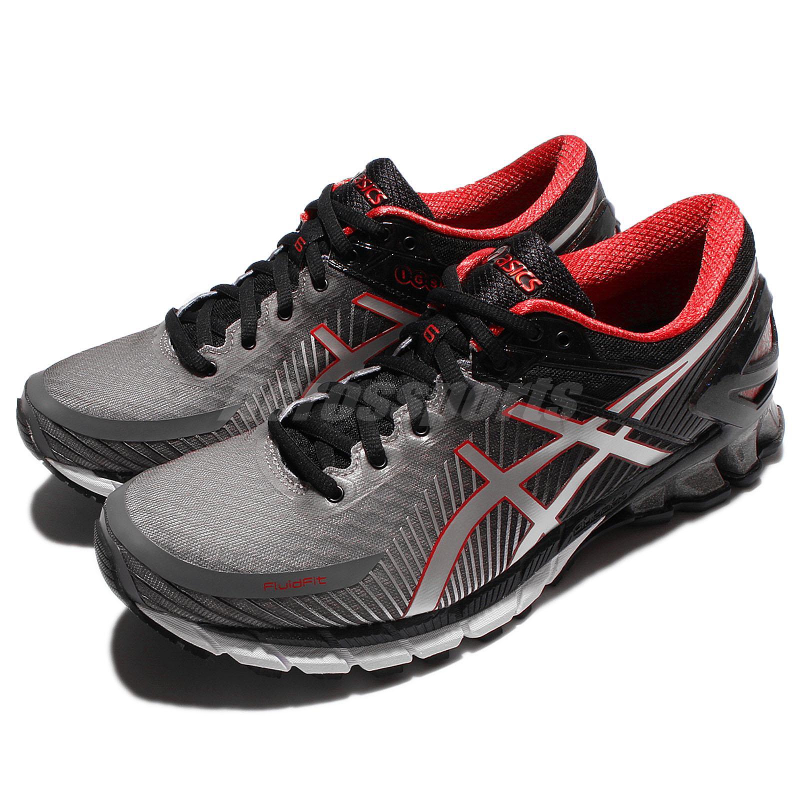 asics gel kinsei 6 vi black silver men running shoes sneaker trainers t644 n9793 ebay. Black Bedroom Furniture Sets. Home Design Ideas