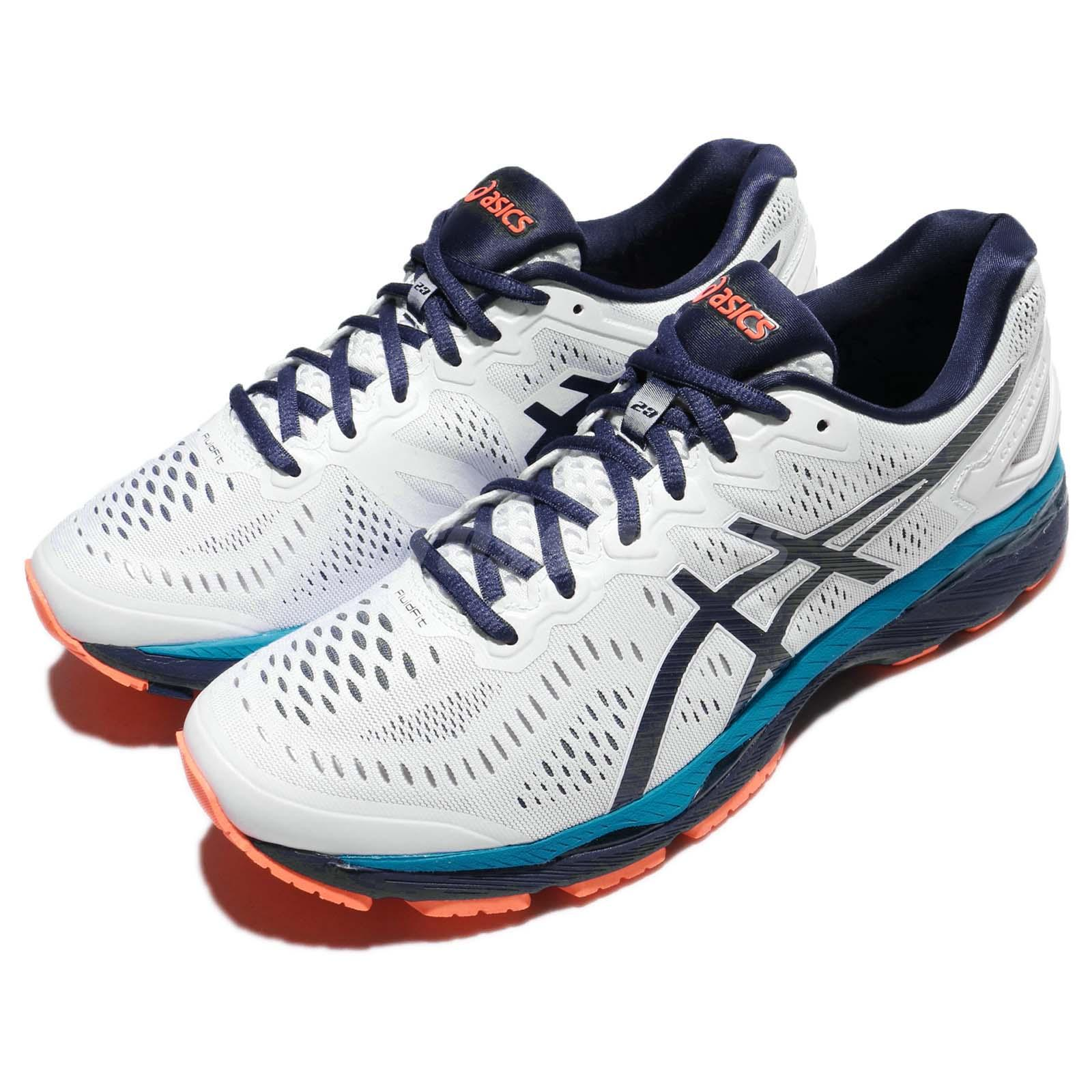 ASICS Gel Kayano 23 MEN Scarpe da corsa uomo White Blue Orange Scarpe t646n 0149