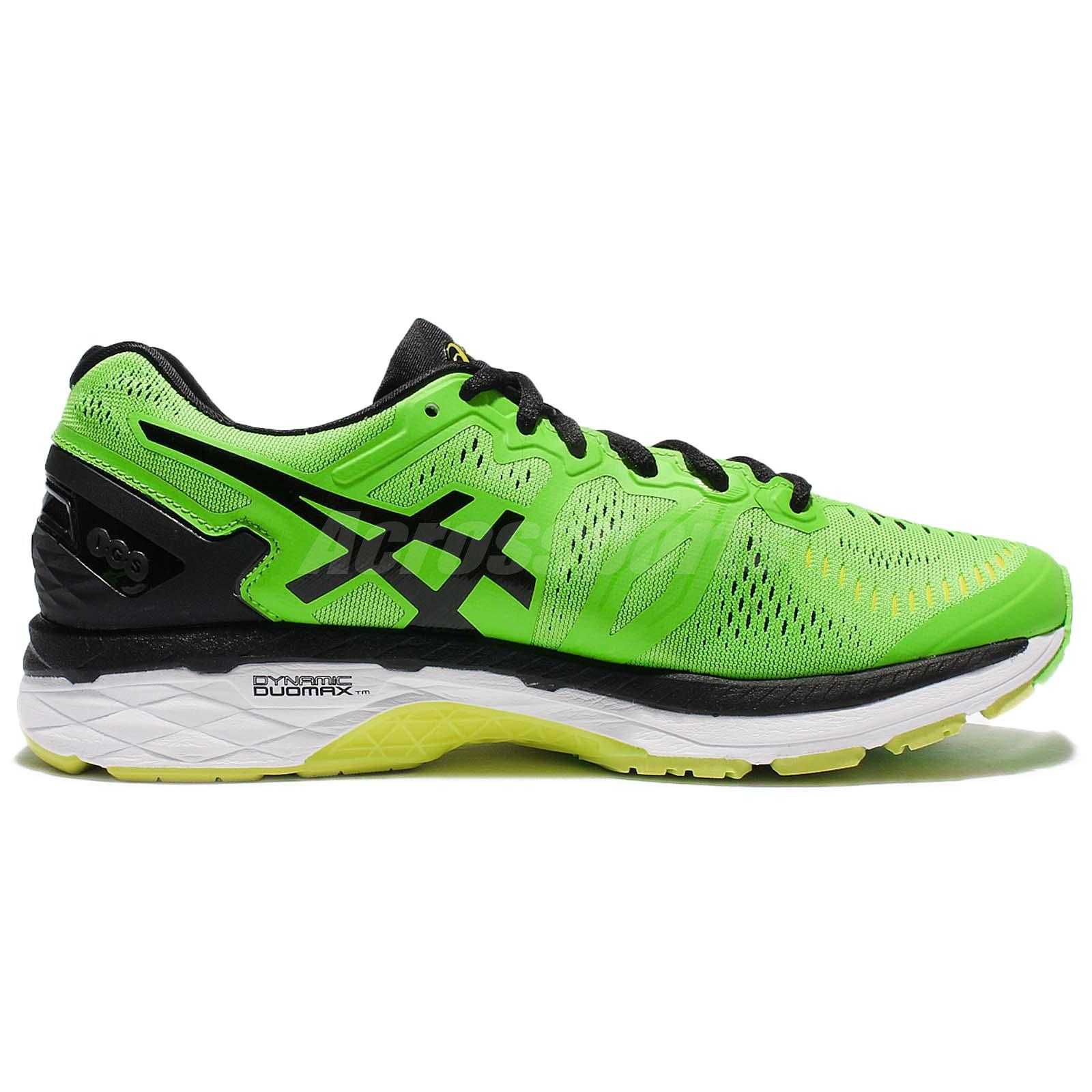 competitive price 3bbdc d7f6b Details about Asics Gel-Kayano 23 Green Black Men Running Shoes Sneakers  Flytefoam T646N-8590