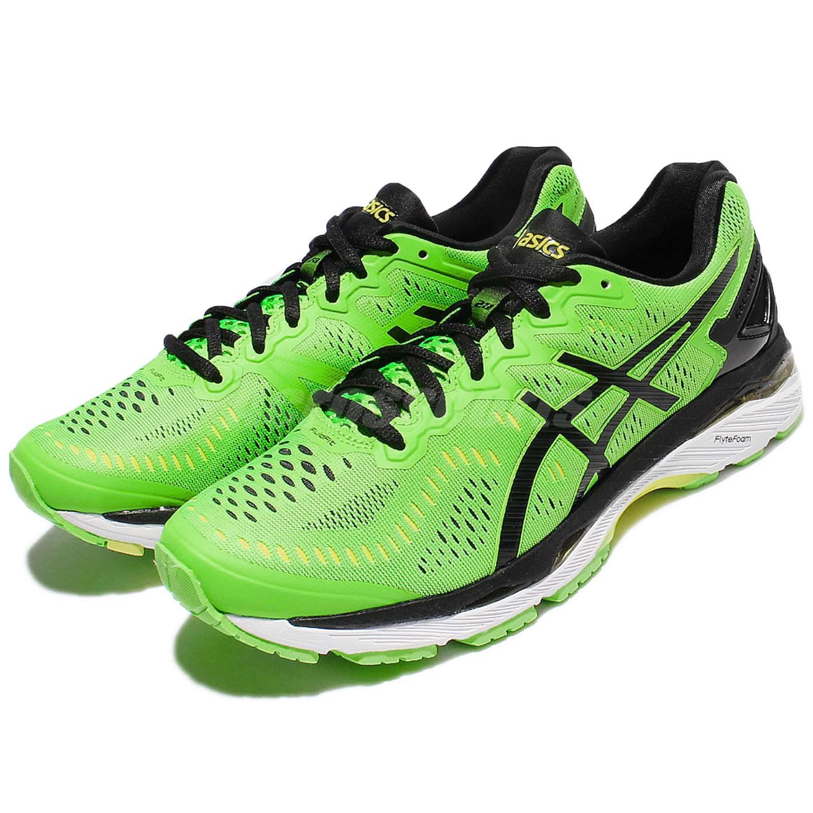 Asics Gel Kayano 23 Green Black Men Running Shoes Sneakers
