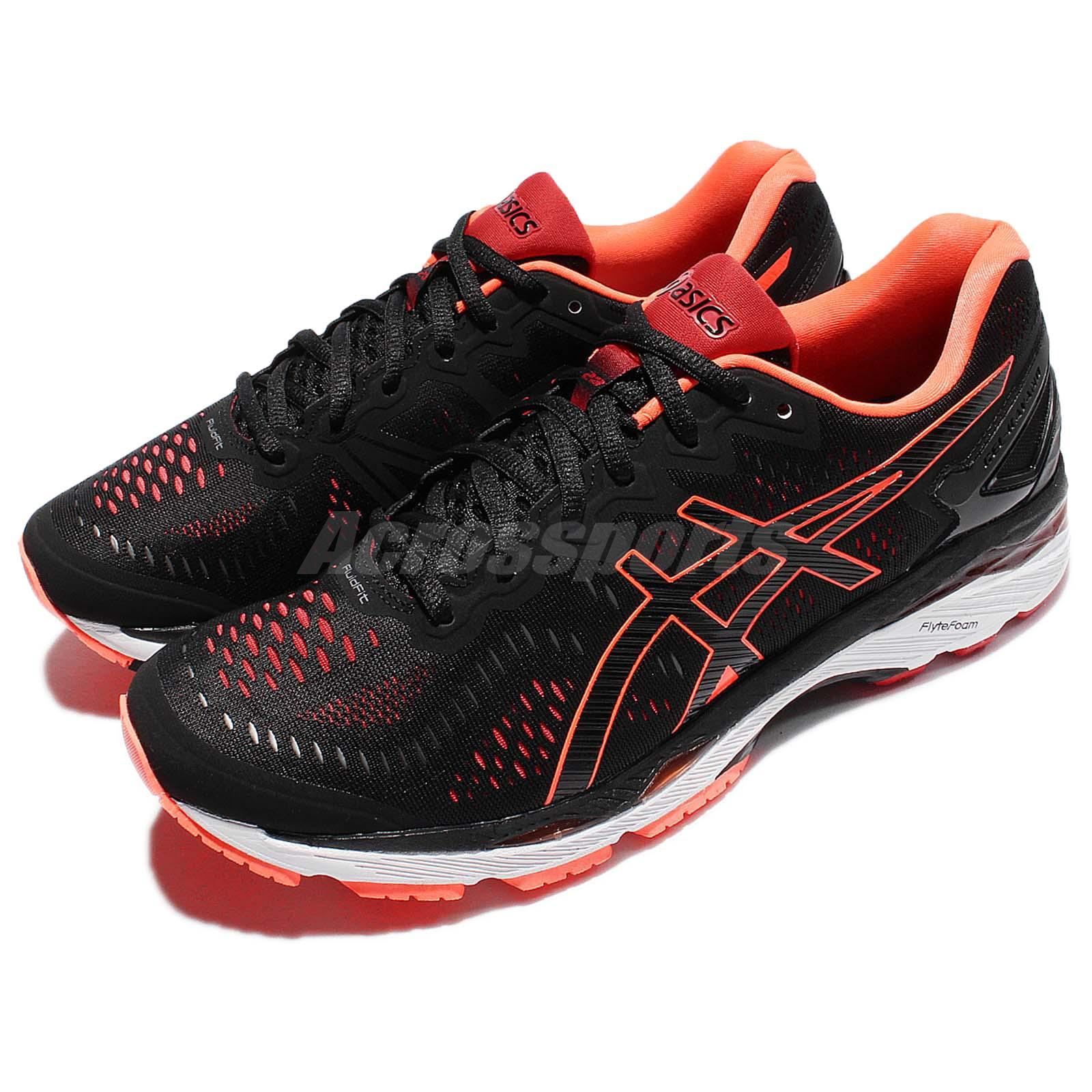 aac523a0 Details about Asics Gel-Kayano 23 Black Orange Men Running Shoes Sneakers  Trainers T646N-9030