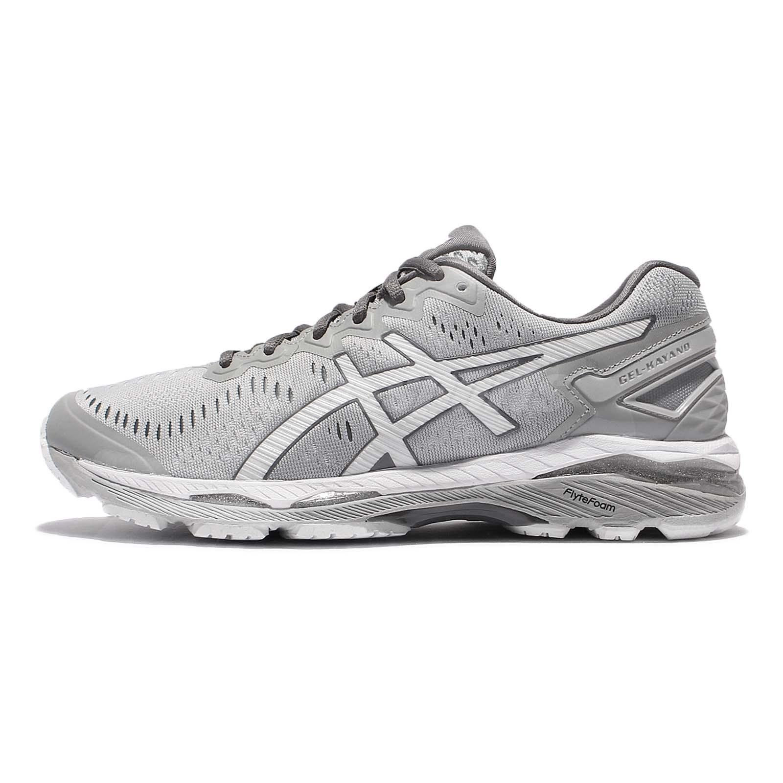 Asics Gel-Kayano 23 Grey White Men Running Shoes Sneakers Trainers  T646N-9601