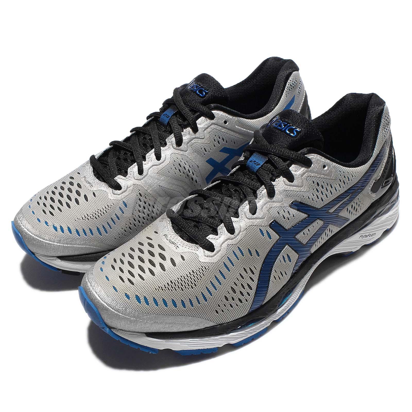 asics gel kayano 23 2e wide grey navy silver mens running shoes t647n 9345 ebay. Black Bedroom Furniture Sets. Home Design Ideas