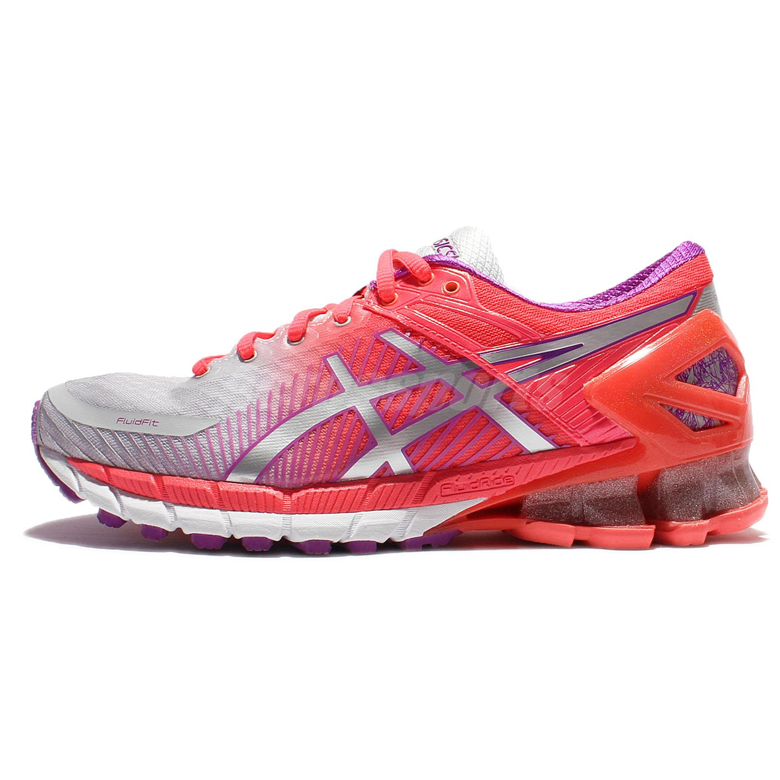 super popular 71631 f35eb Details about Asics Gel-Kinsei 6 VI Pink Silver Women Running Shoes Sneaker  Trainer T694N-9693