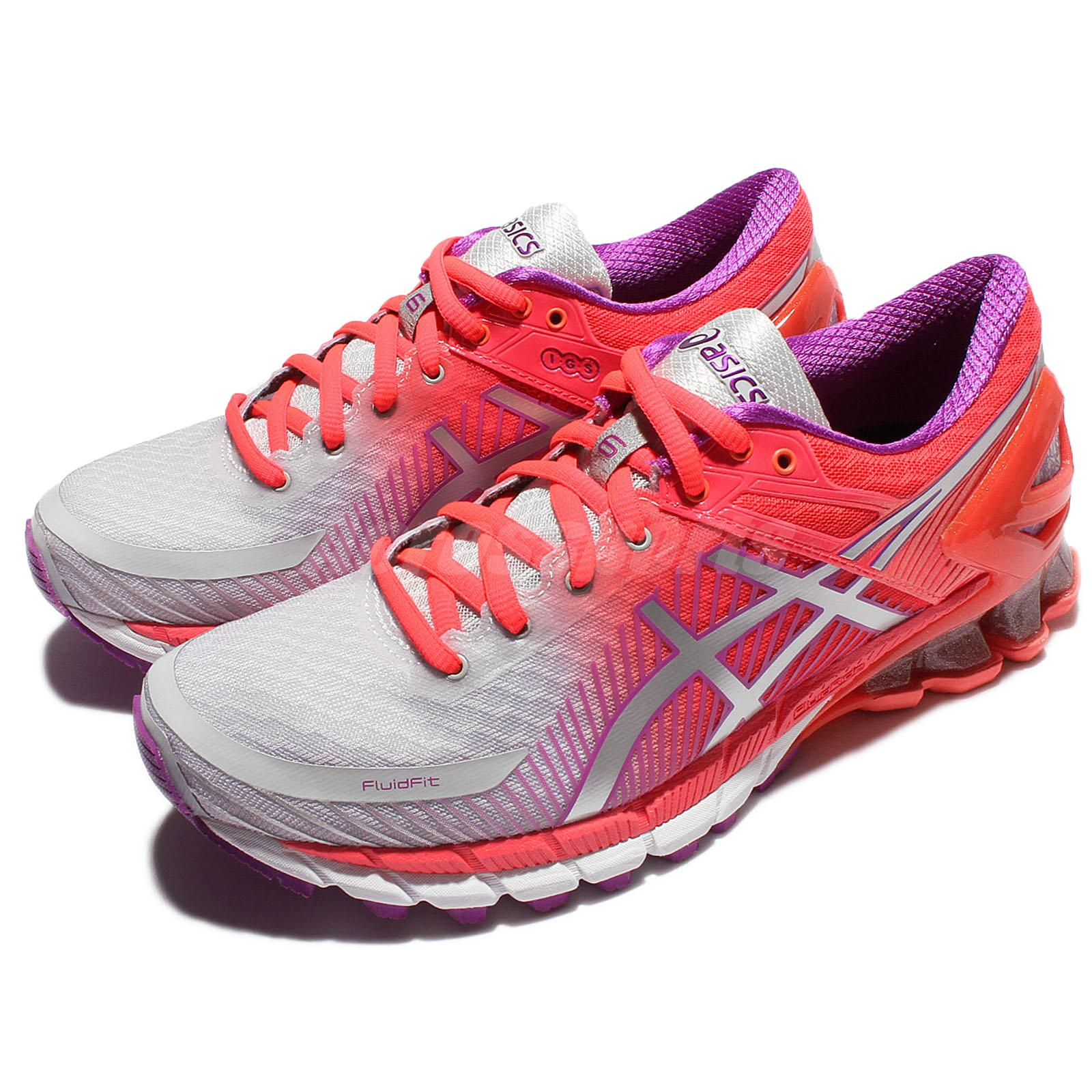 super popular 6c5eb 14225 Details about Asics Gel-Kinsei 6 VI Pink Silver Women Running Shoes Sneaker  Trainer T694N-9693