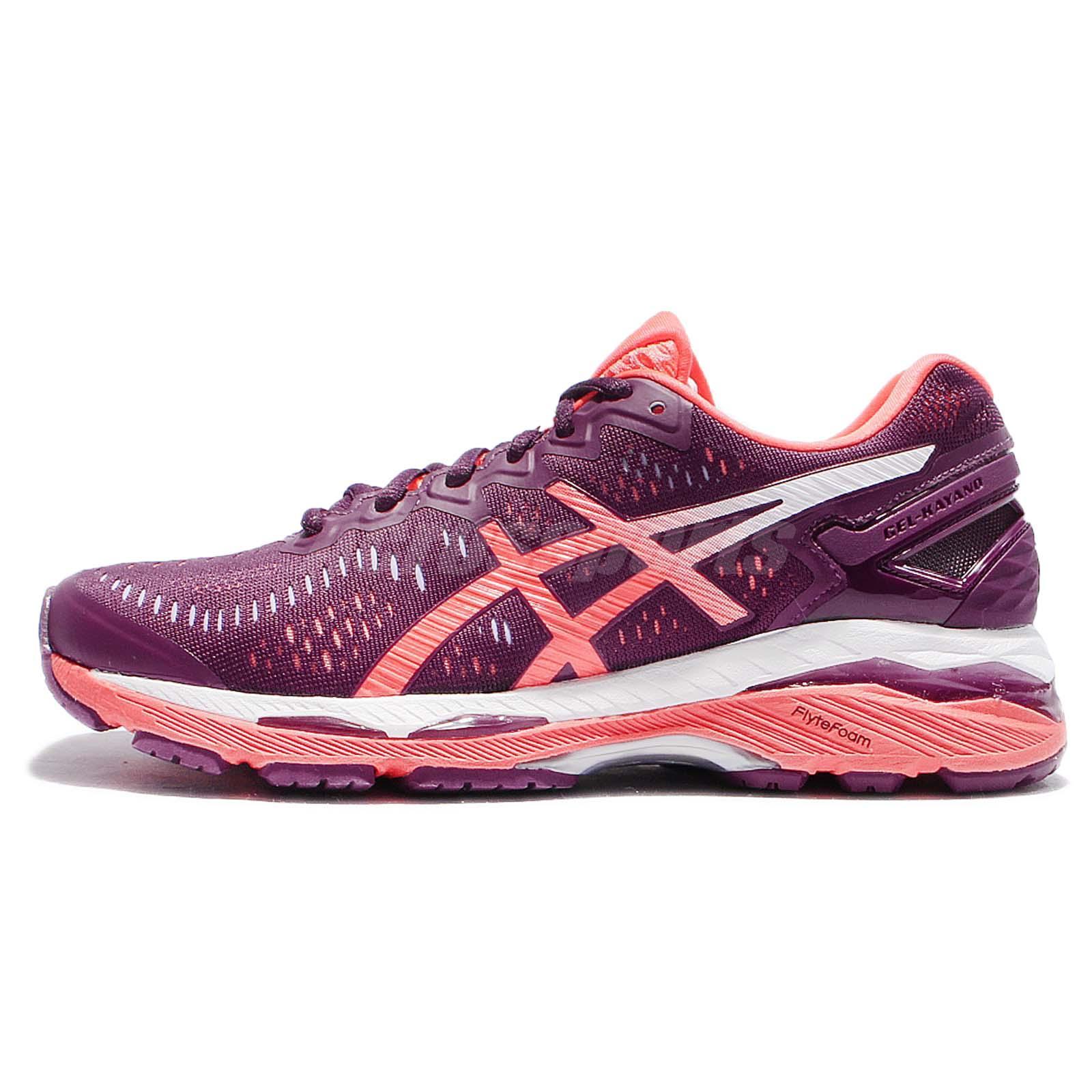 asics gel womens running shoes purple