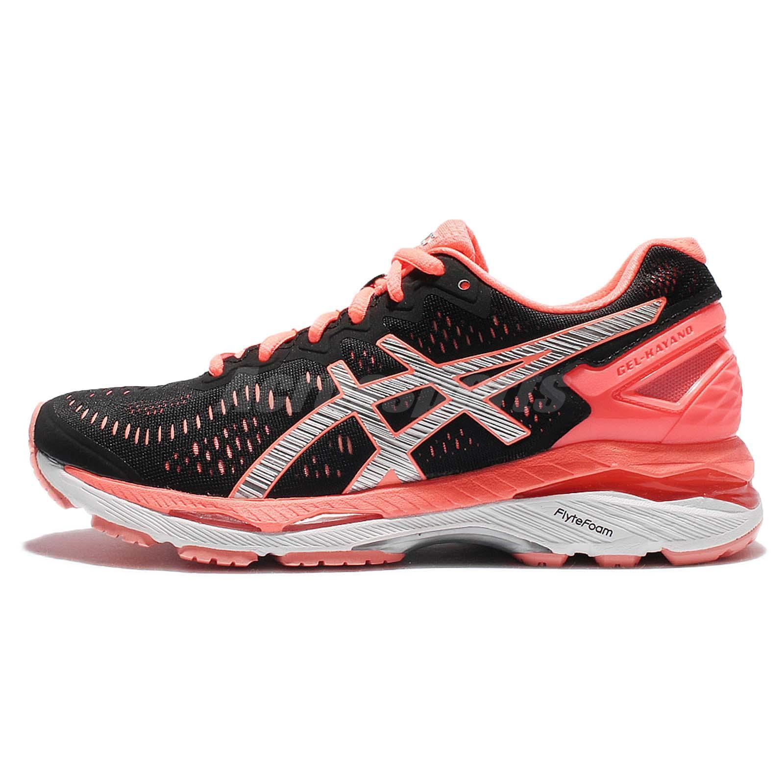 Asics Gel-Kayano 23 Black Pink Womens Running Shoes ...